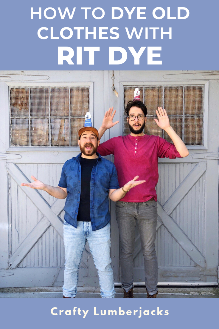 Dyeing Old Clothes With Rit - Give new life to some of your old favorite outfits with a quick rit dip!  #ritdye #dyeing #upcycle #oldclothes #gaycouple #thirtstore #recycle #fashion #mensfashion #vintageclothing #dyeingclothes #howtodye #trashtotresure