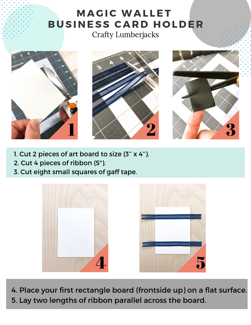 Easy Step-by-Step Magic Wallet using art board, ribbon and tape!   #magicwallet #easycrafts #easydiy #wallet #craftstodowhenyourebored #kidscrafts #adultcrafts #cheapcrafts
