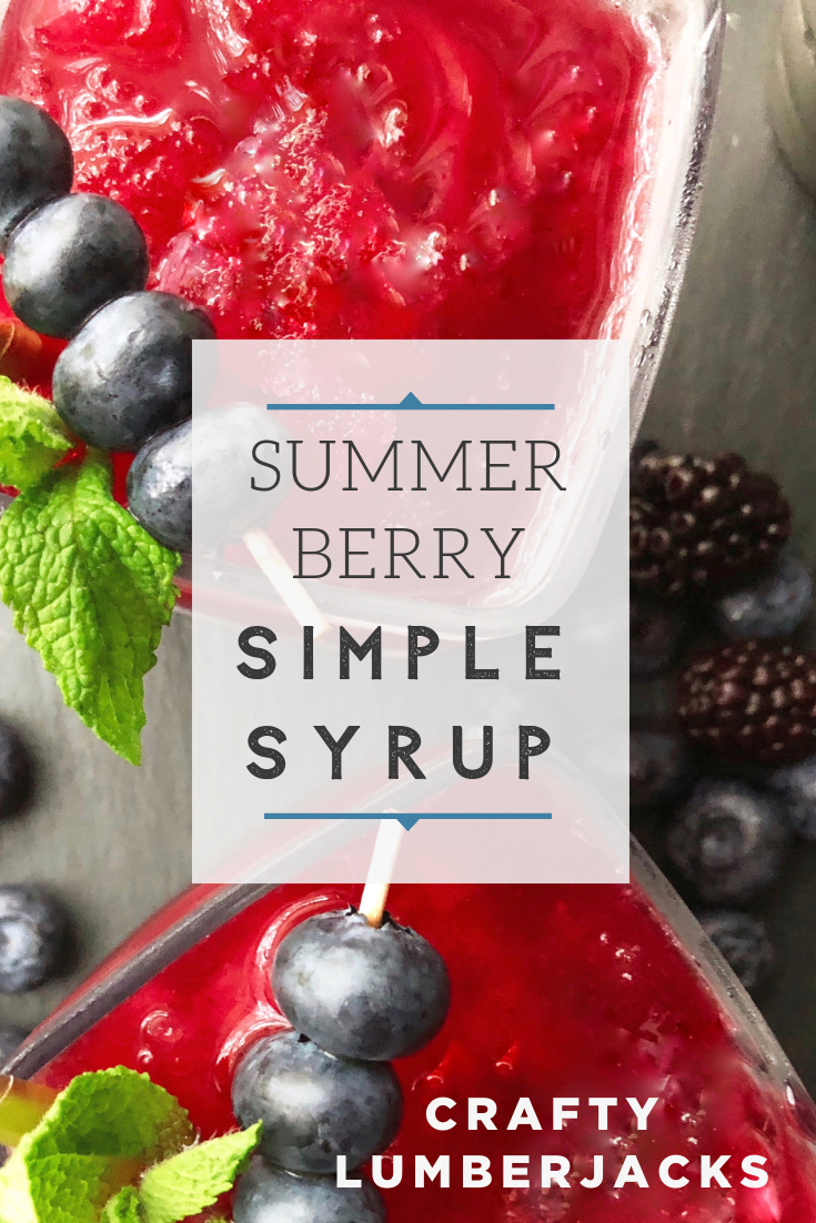 Bring your summer cocktails to the next level with this blackberry, blueberry mint make-ahead simple syrup recipe. #cocktails #simplesyrup #blueberries #blackberries #cocktailrecipe #summerdrinks #blueberrycocktail #blackberrycocktail #summercocktail #easycocktail #makeaheadcocktails #summerlemonade #whiskey #whiskeydrink #whiskeycocktail #whiskeylemonade #wishfarms