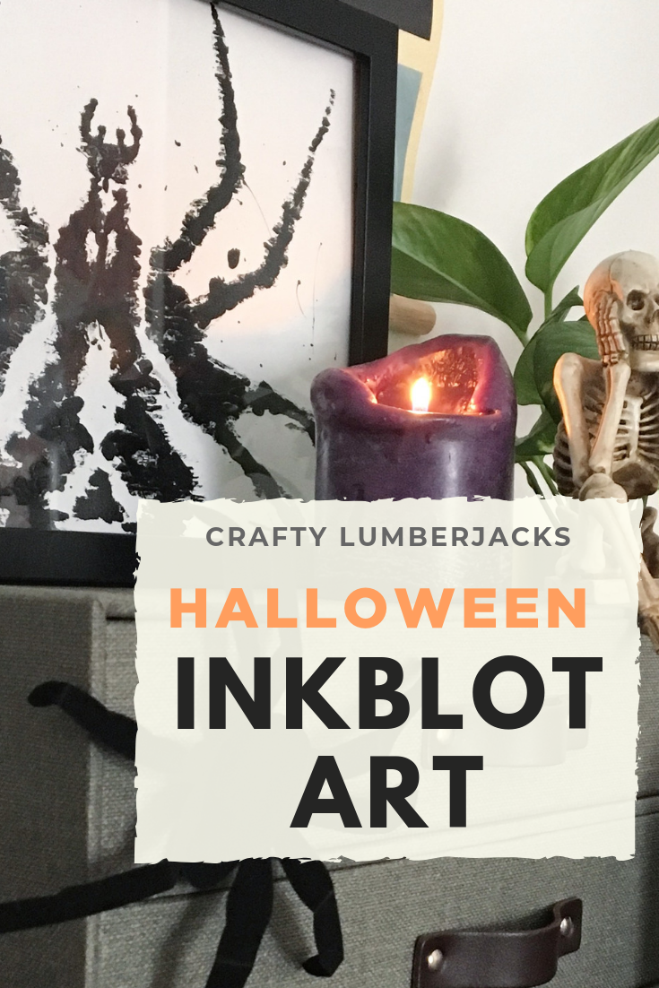 Easy Inkblot Test Wall Art for Halloween  #easyhalloween #dollarstore #halloween #halloweendiy #halloweendecor #halloweendecorations #wallart #inkblot #hauntedhouse #haunted #spooky #spookyseason #spookydecor #creepy #diyhalloween #diyhalloweendecorations