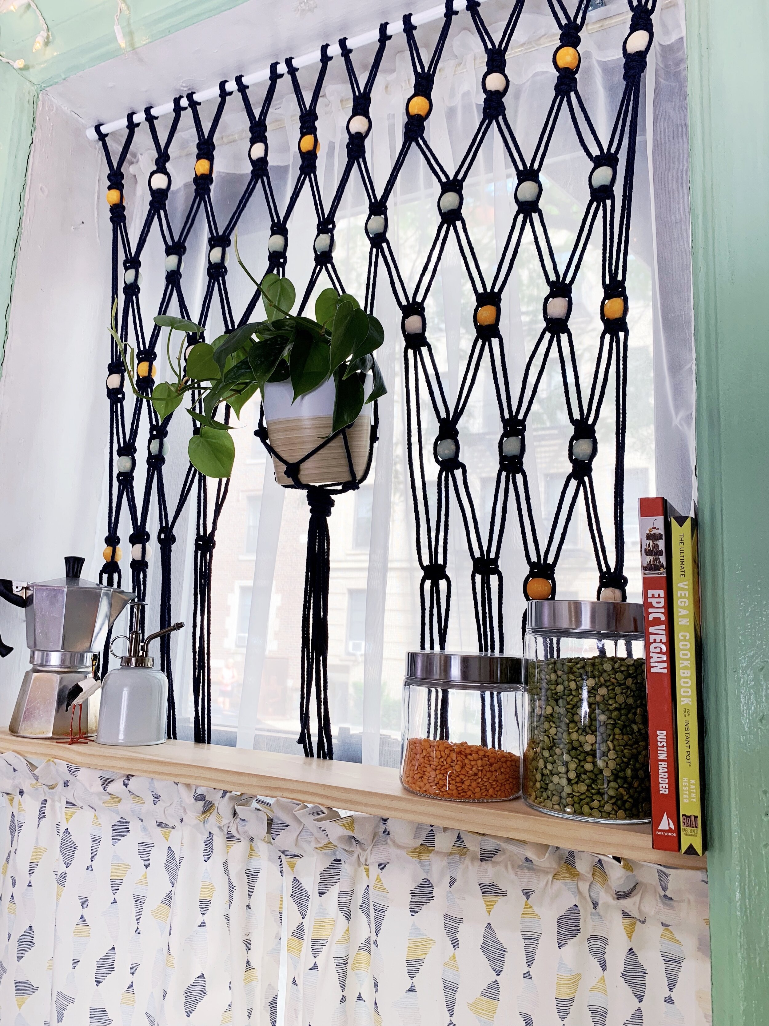 Macrame Boho Beaded Hanging Curtain Crafty Lumberjacks