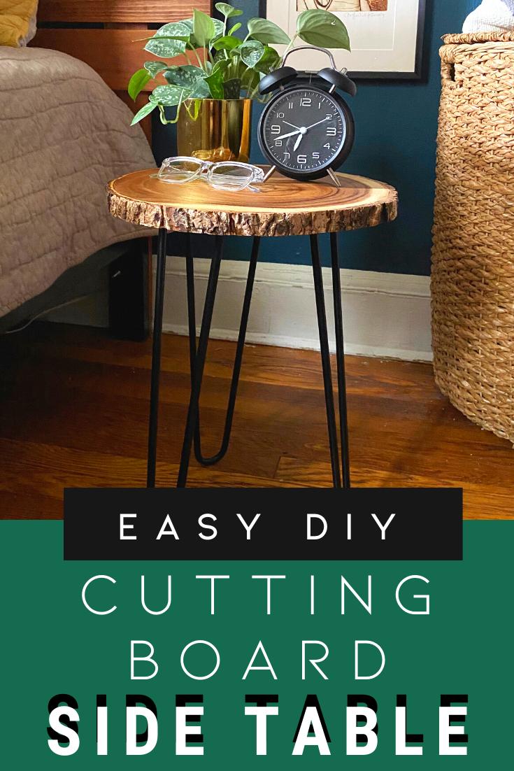 Image of: Easy Diy Wood Slice Side Table Crafty Lumberjacks