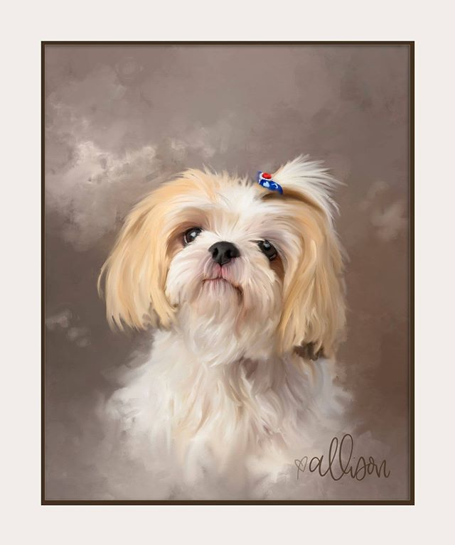 If you're looking for a digital artist who specializes in painting pets, then search no further.  This was a participant at the annual Bark Mitzvah held at the Houston Congregation for Reform Judaism in March 2019. I painted the original photograph digitally and created this piece of art.