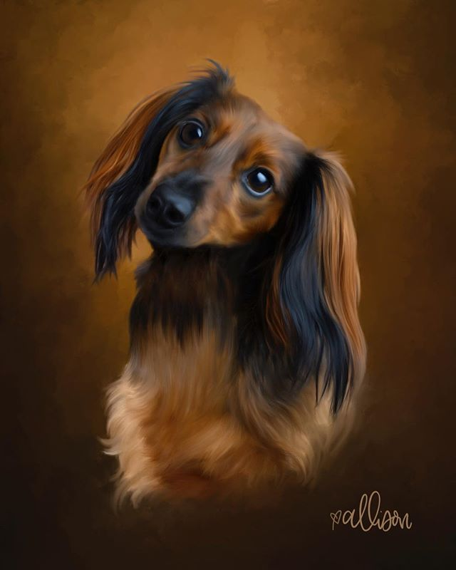 Why yes, I paint dachshunds too! This is Max.