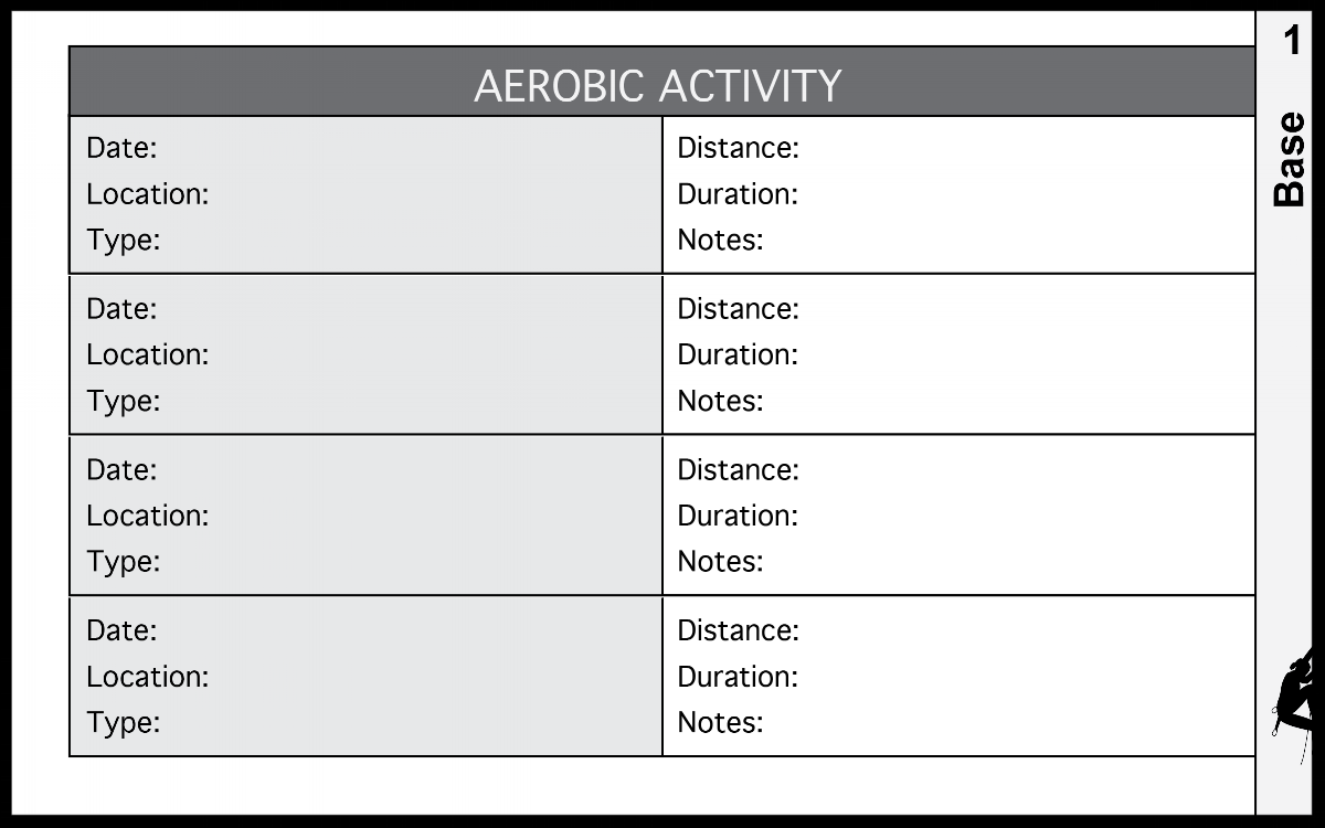 Aerobic Activity Training Log