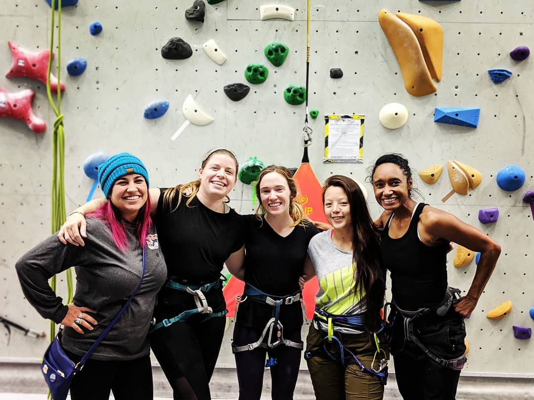 Never Stop Moving Team climbing together at Stone Gardens, Bellevue!