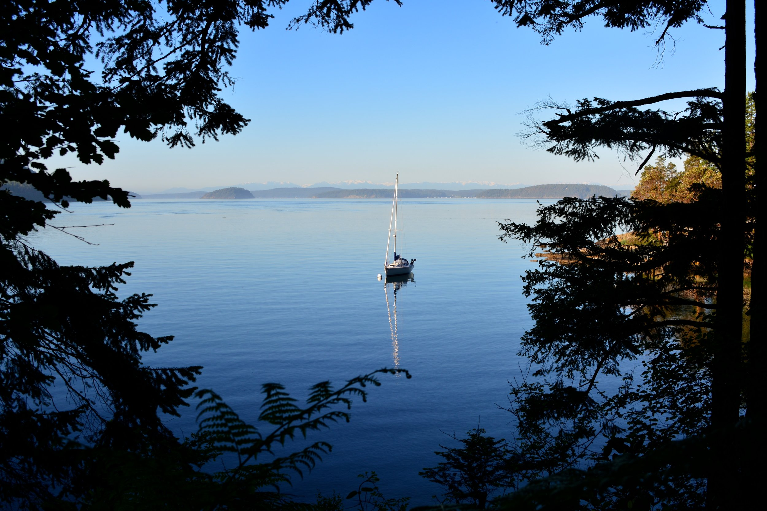 Obstruction Pass State Park - Tranquility around every corner, painted in the most brilliant blues.