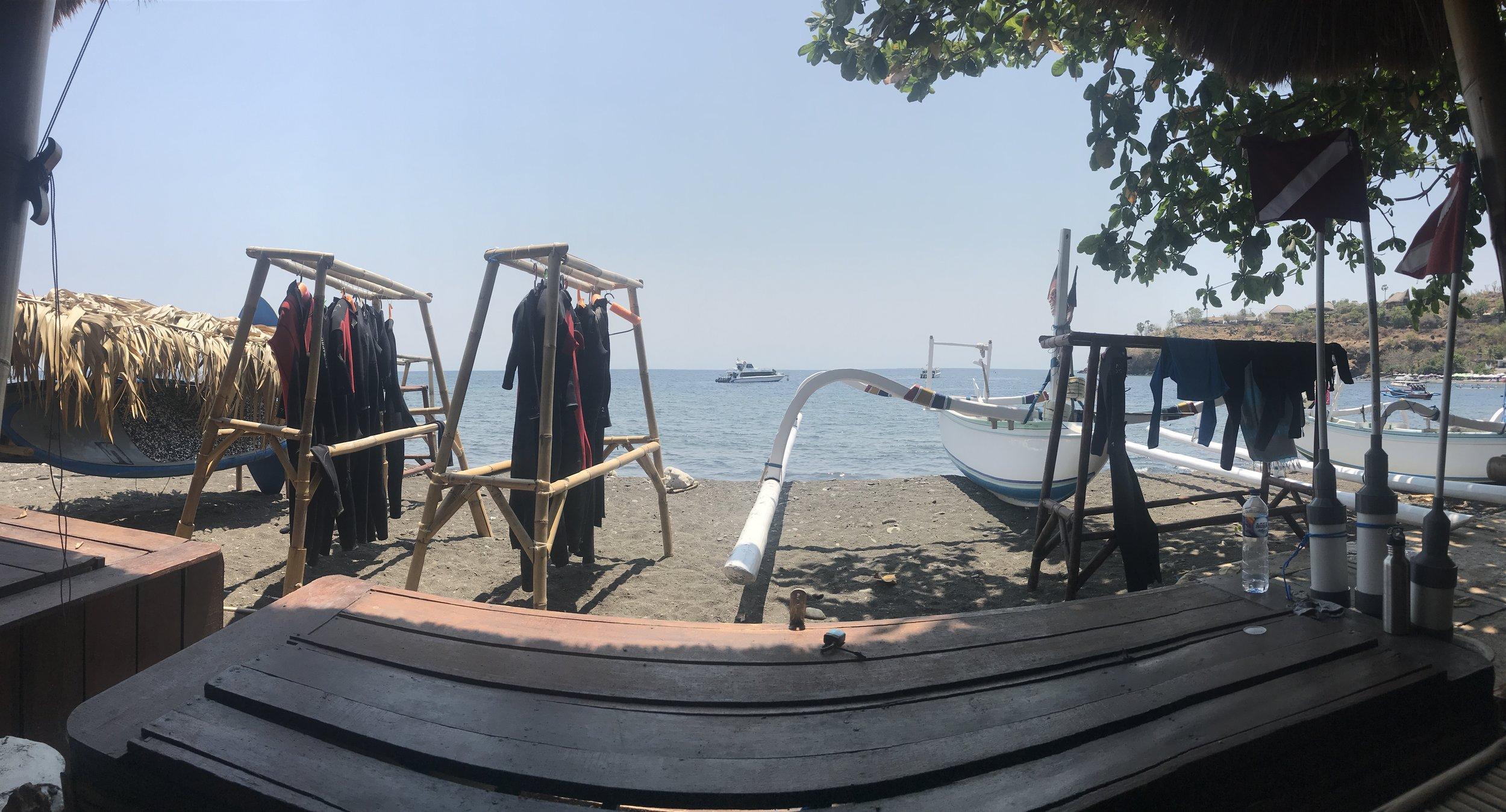 Freediving in Amed, Bali