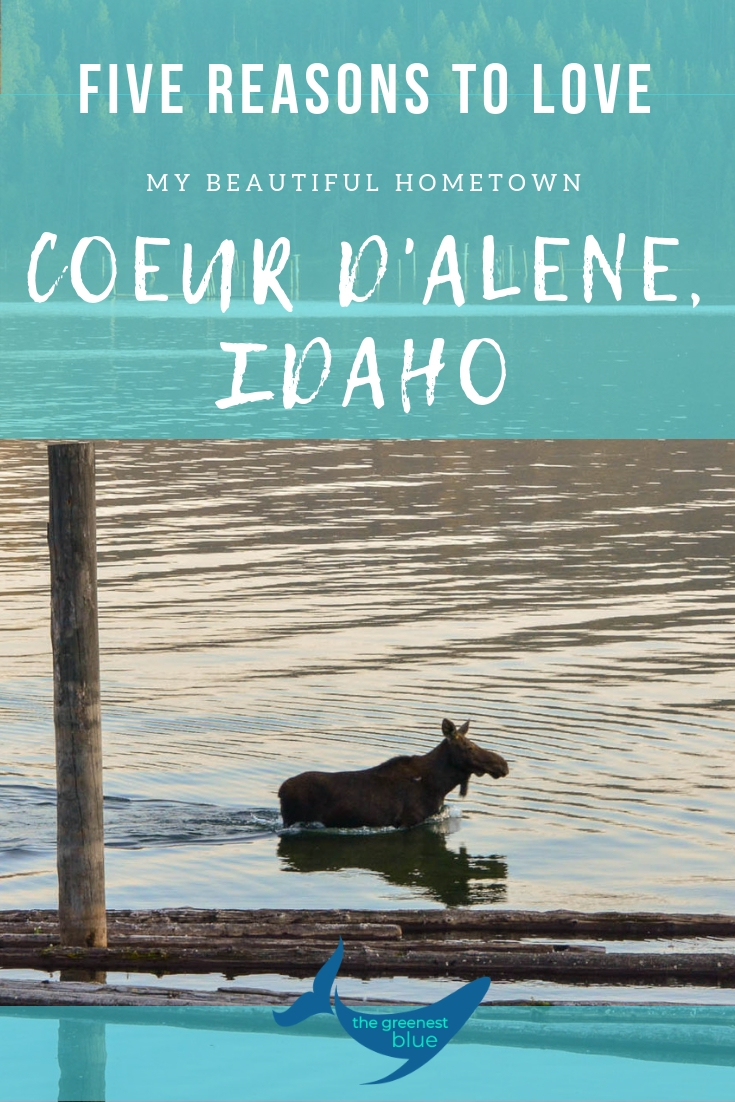 Beautiful Coeur d'Alene, Idaho is my hometown - I am so lucky! Here are five reasons (there's plenty more, thought) that I love this town by the lake in Northern Idaho.