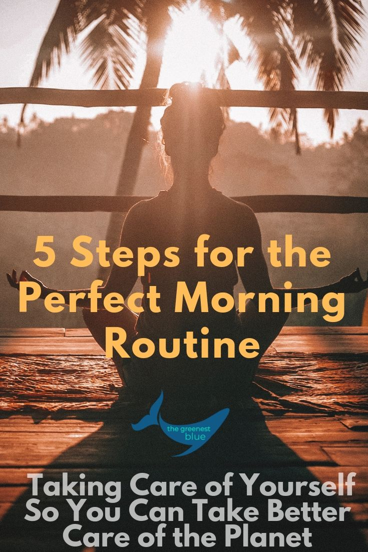 Five Steps to the Perfect Morning Routine - How to Take Better Care of Yourself, and Set Yourself Up for Success in Your Day, So You Can Better Take Care of the Planet. Mindfulness fo Eco-lovers