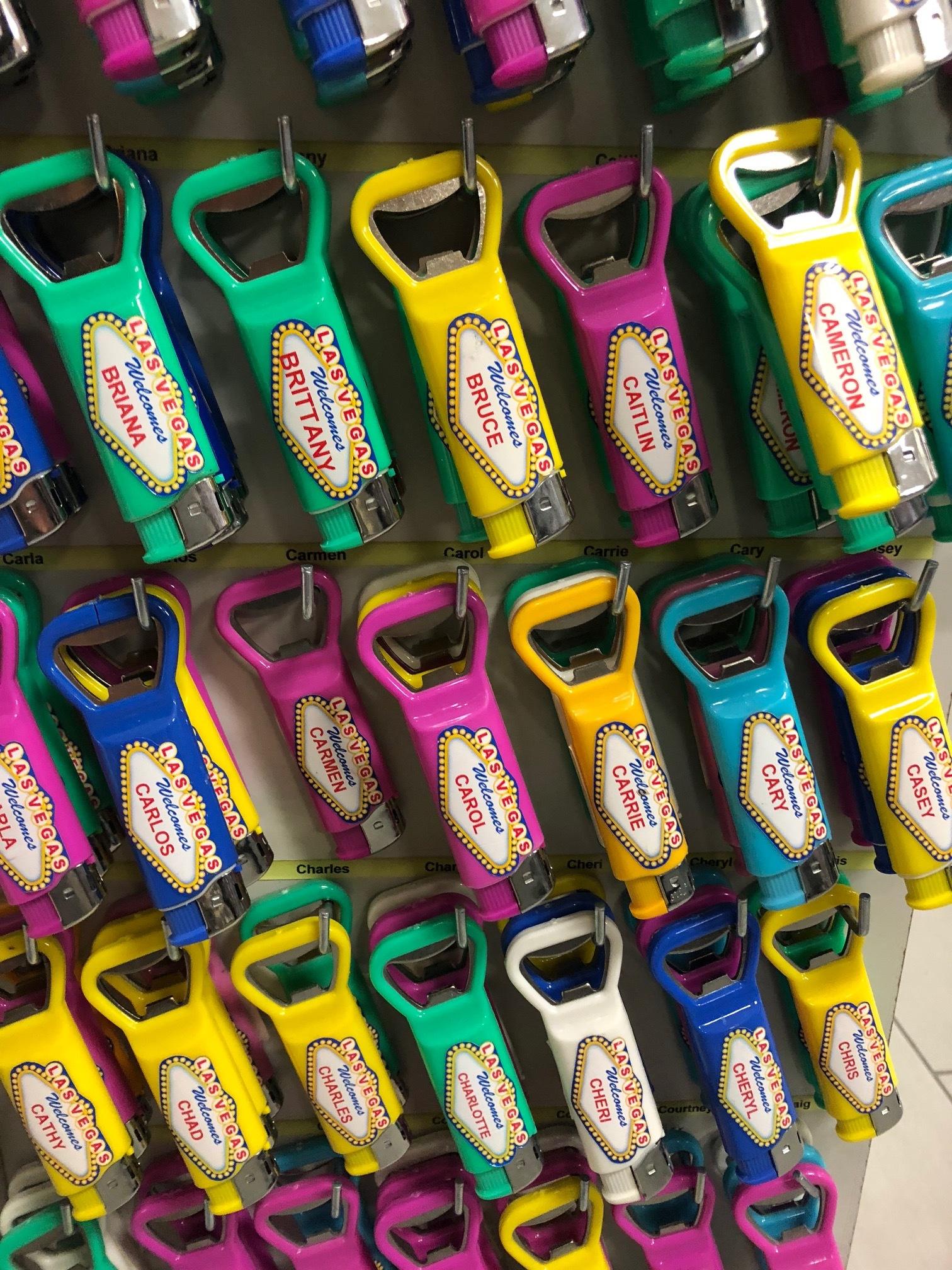 Only in Vegas: beer opener lighters!