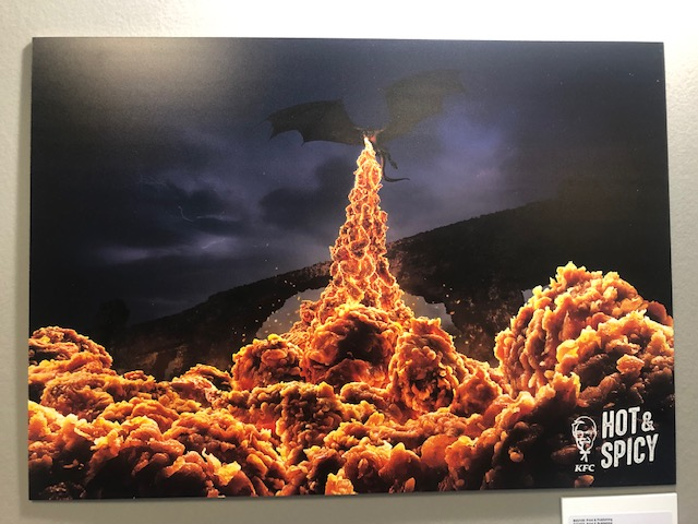Fave ad of the Day:  KFC's spicy campaign gets full marks for invoking the Game of Thrones dragon.