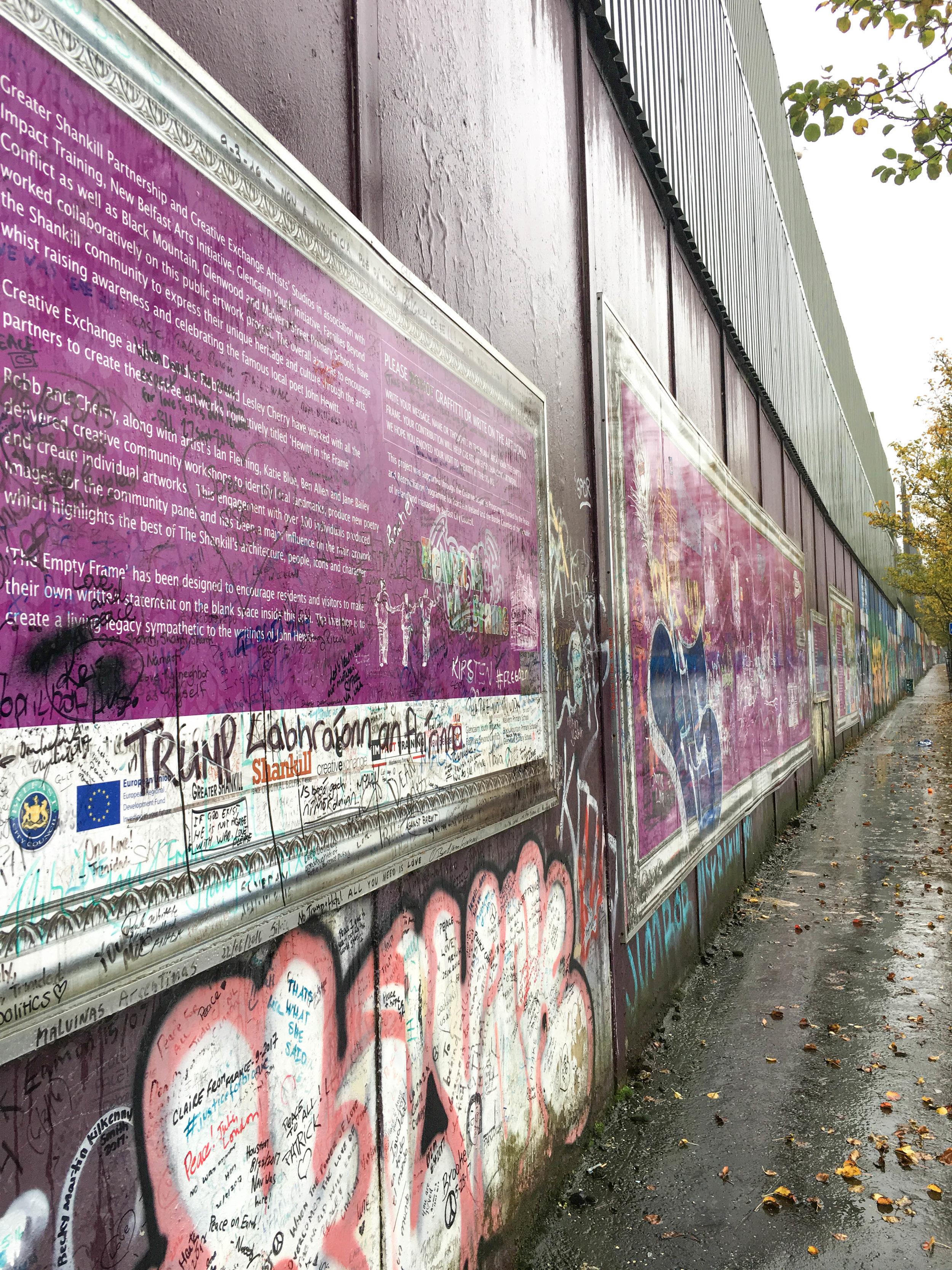 peace wall; belfast; ireland; bri rinehart