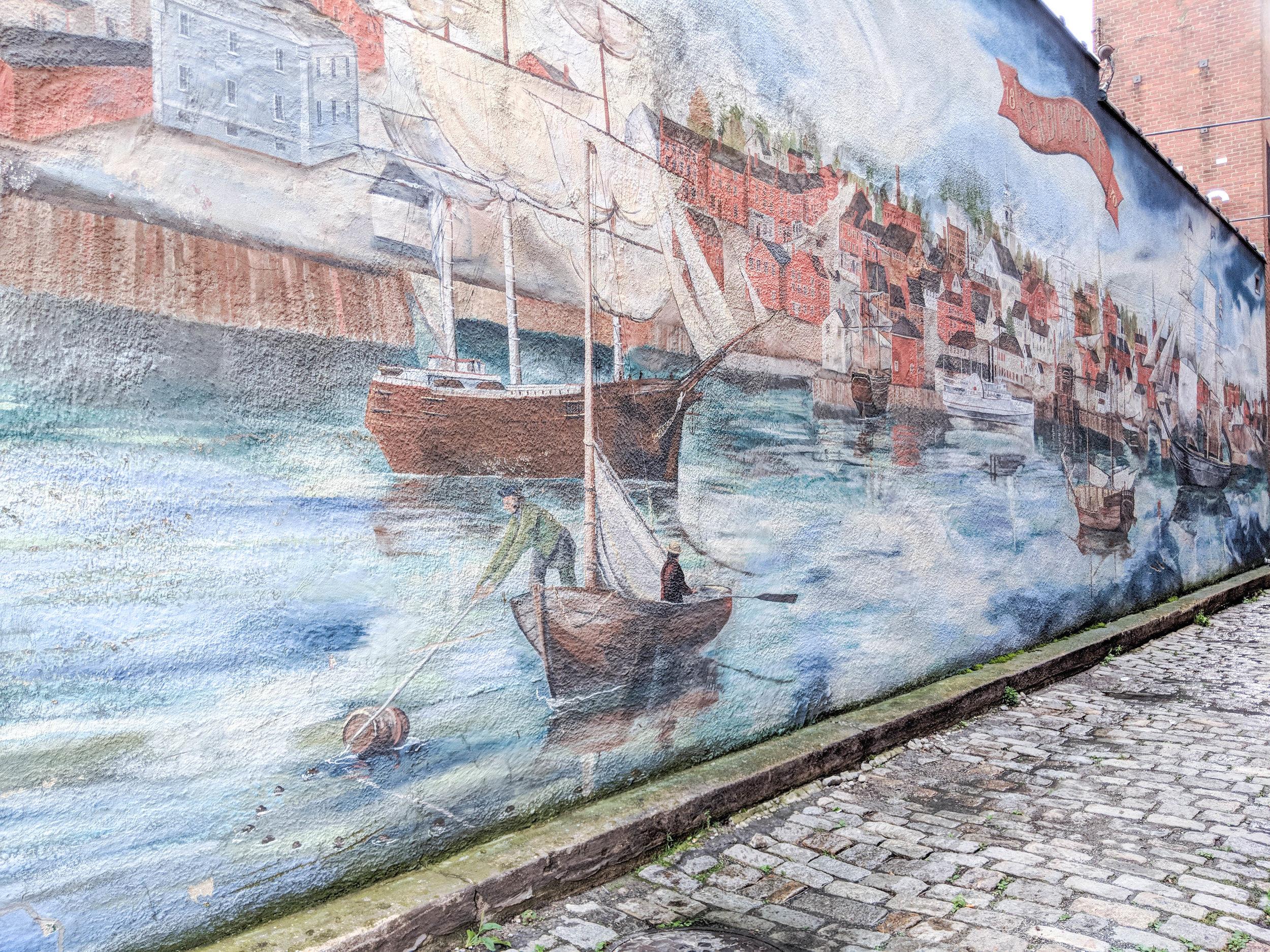 bri rinehart; newburyport; mural