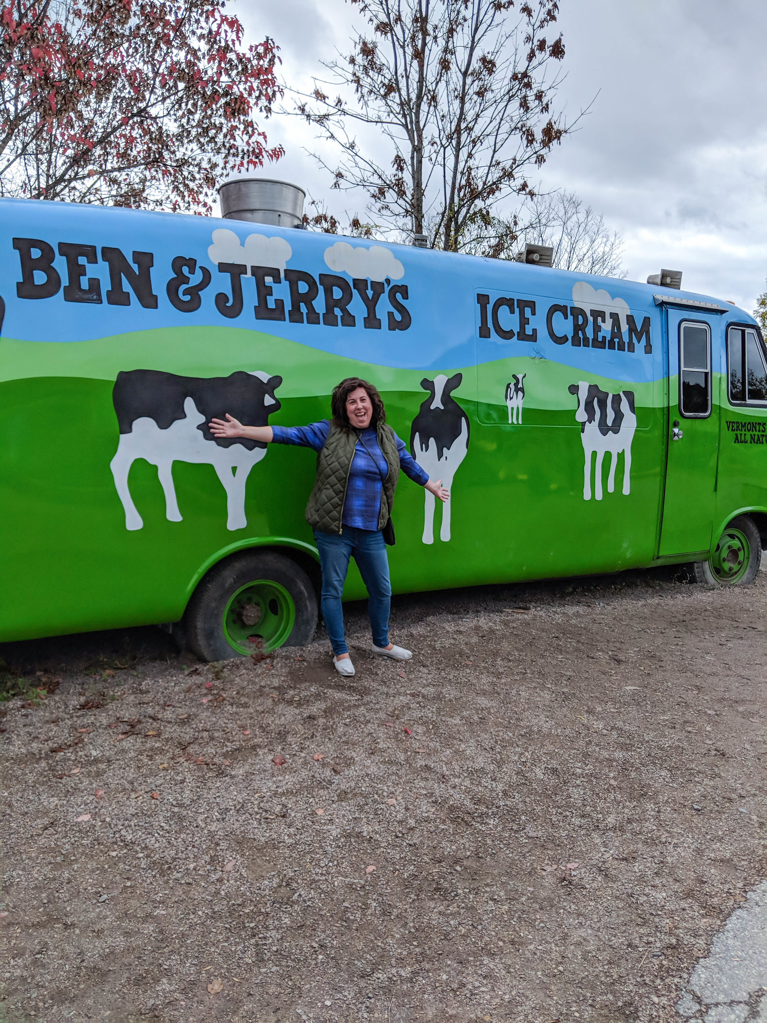 bri rinehart; ben and jerry's factory; vermont; ice cream