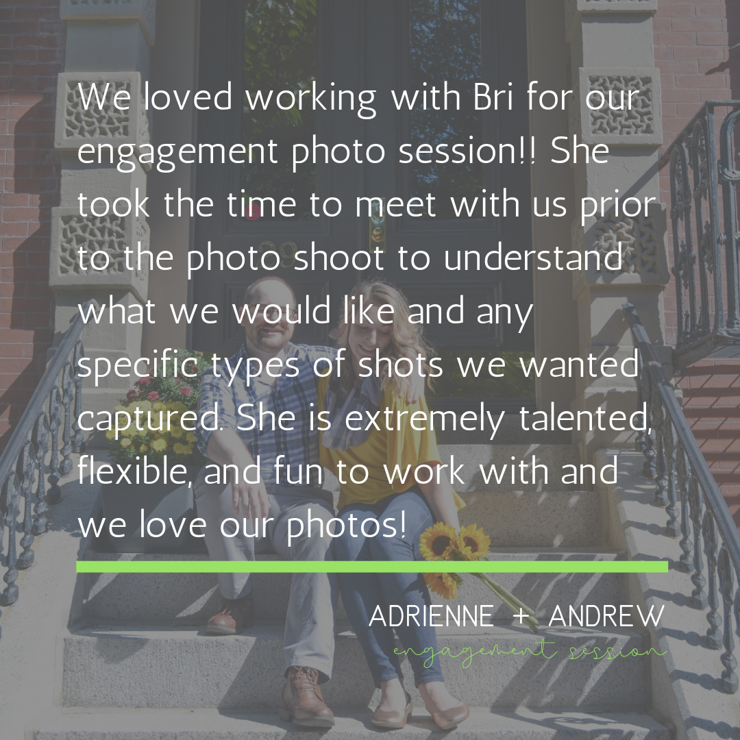 bri rinehart; the bri creative; engagement; testimonial