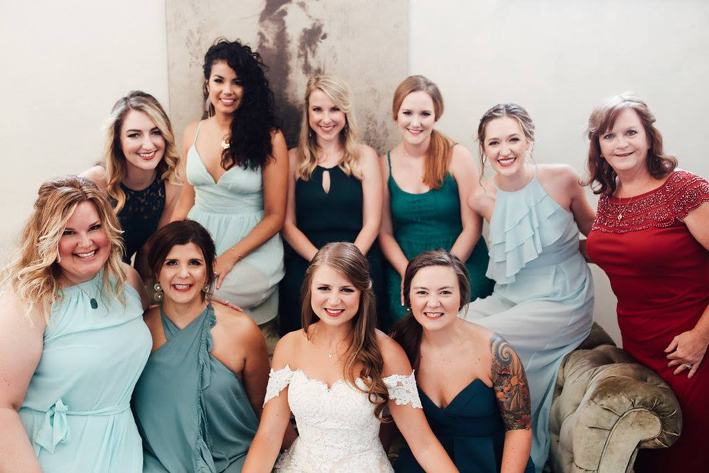 All us gals at Kayla and Phil's wedding. The wedding that sparked the idea!