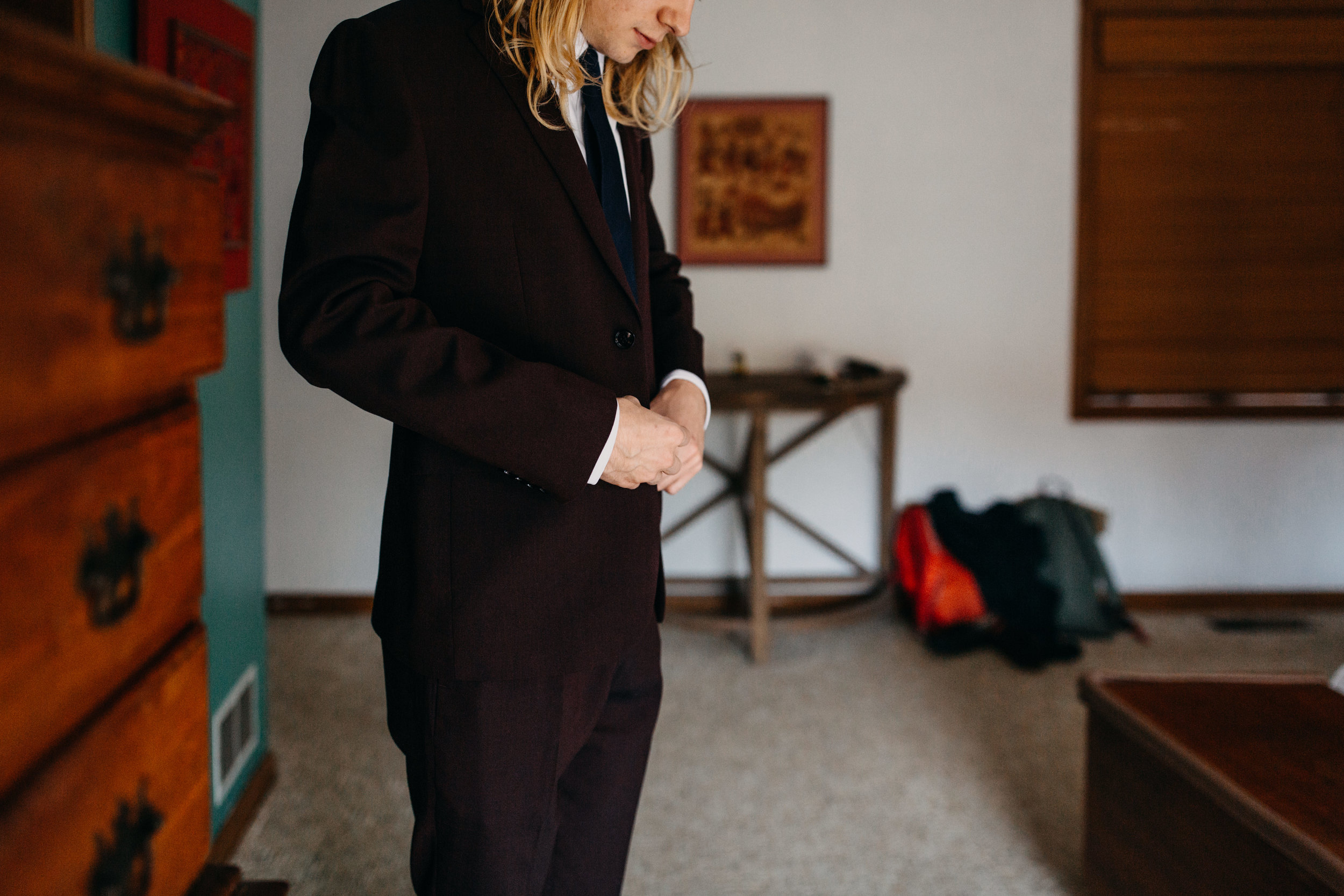 Jessie + Matt Modern Groom's Suit from Express | Inner Images Photography