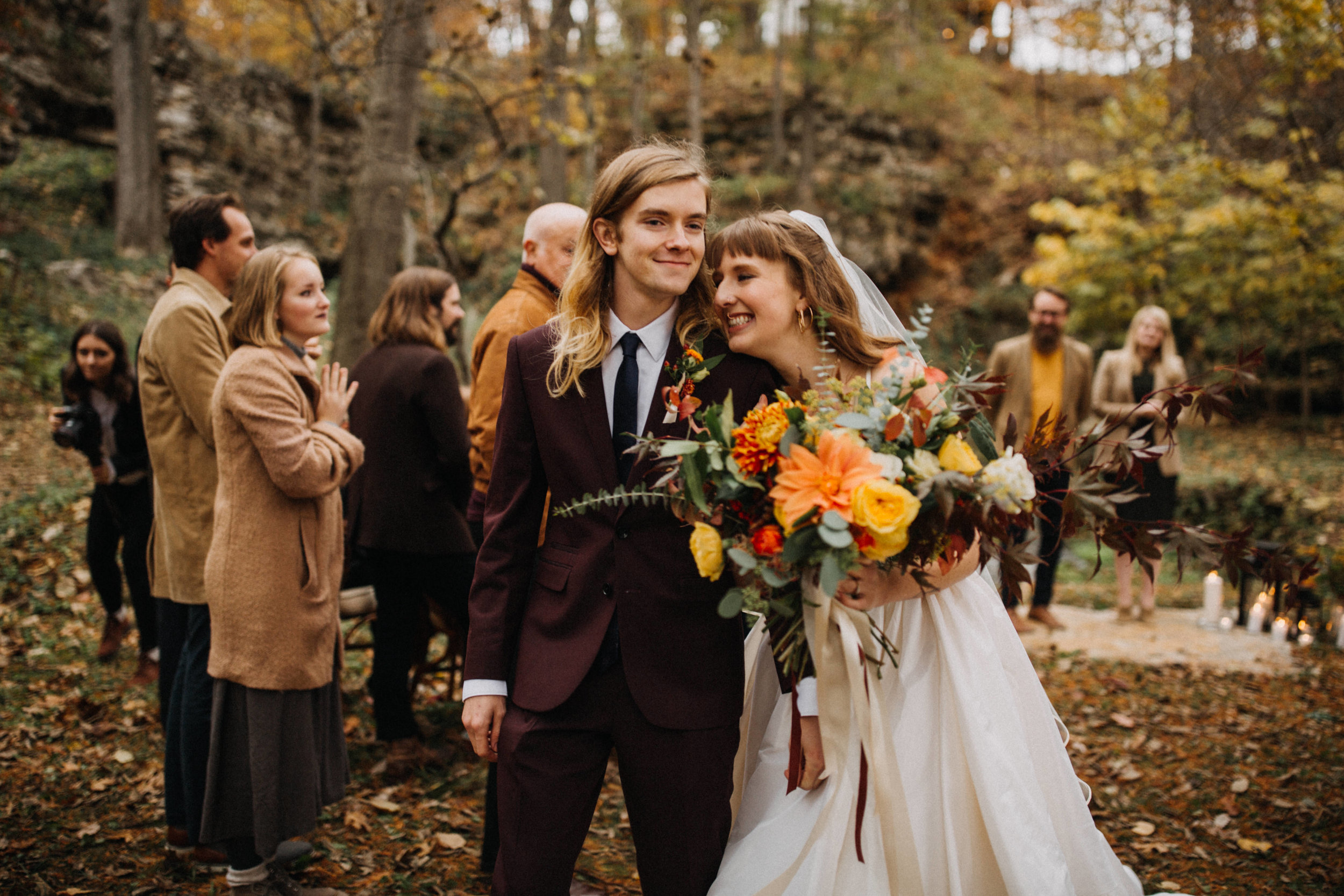 Jessie + Matt an Intimate, Autumn Wedding in the Ozarks | Inner Images Photography