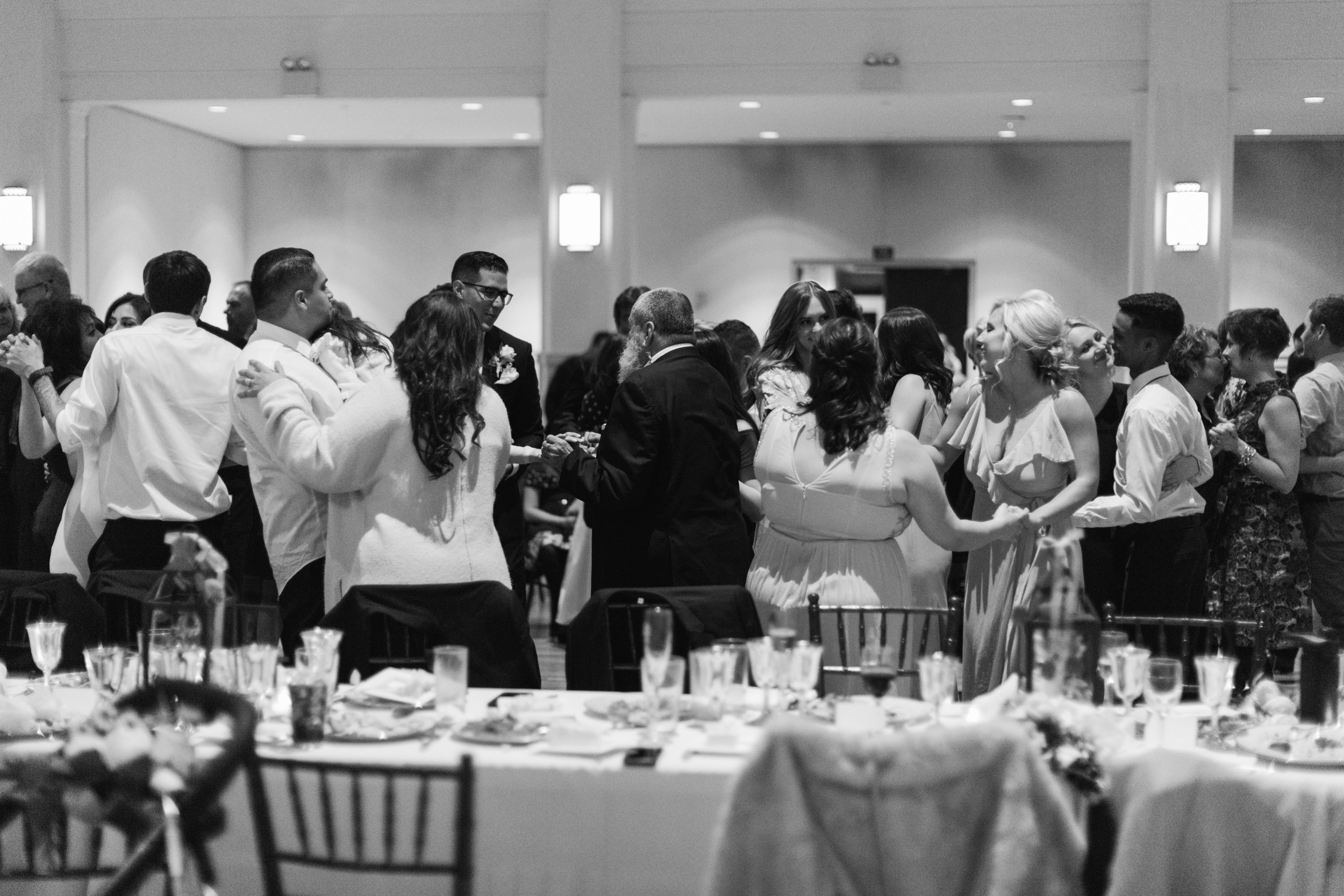 Dancing at The Wedding | B&W Wedding Photos | Southern California Romantic Wedding Near Their Home | Unions With Celia | Amy & Darren Photography |