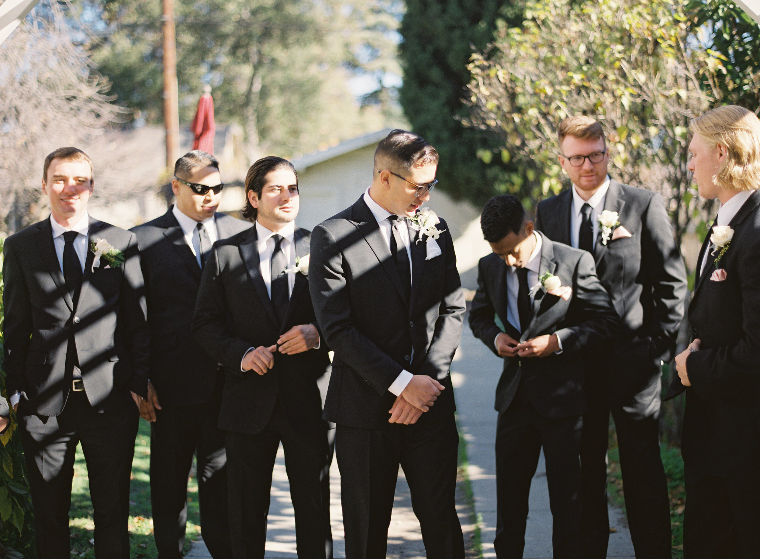 Groomsmen Style | Mens Wearhouse Suits | Southern California Romantic Wedding Near Their Home | Unions With Celia | Amy & Darren Photography