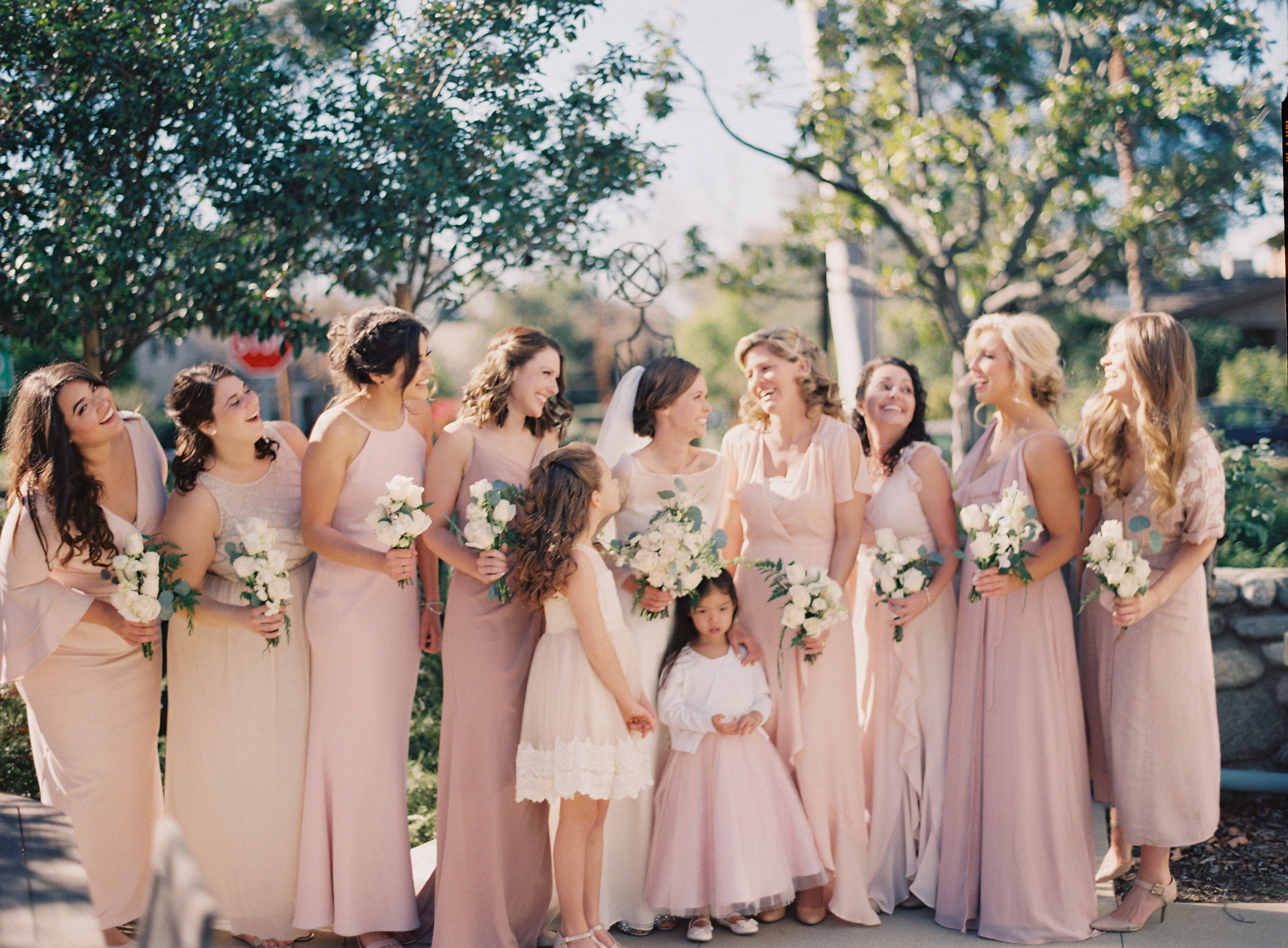 Bridesmaid Style | Southern California Romantic Wedding Near Their Home | Unions With Celia | Amy & Darren Photography |