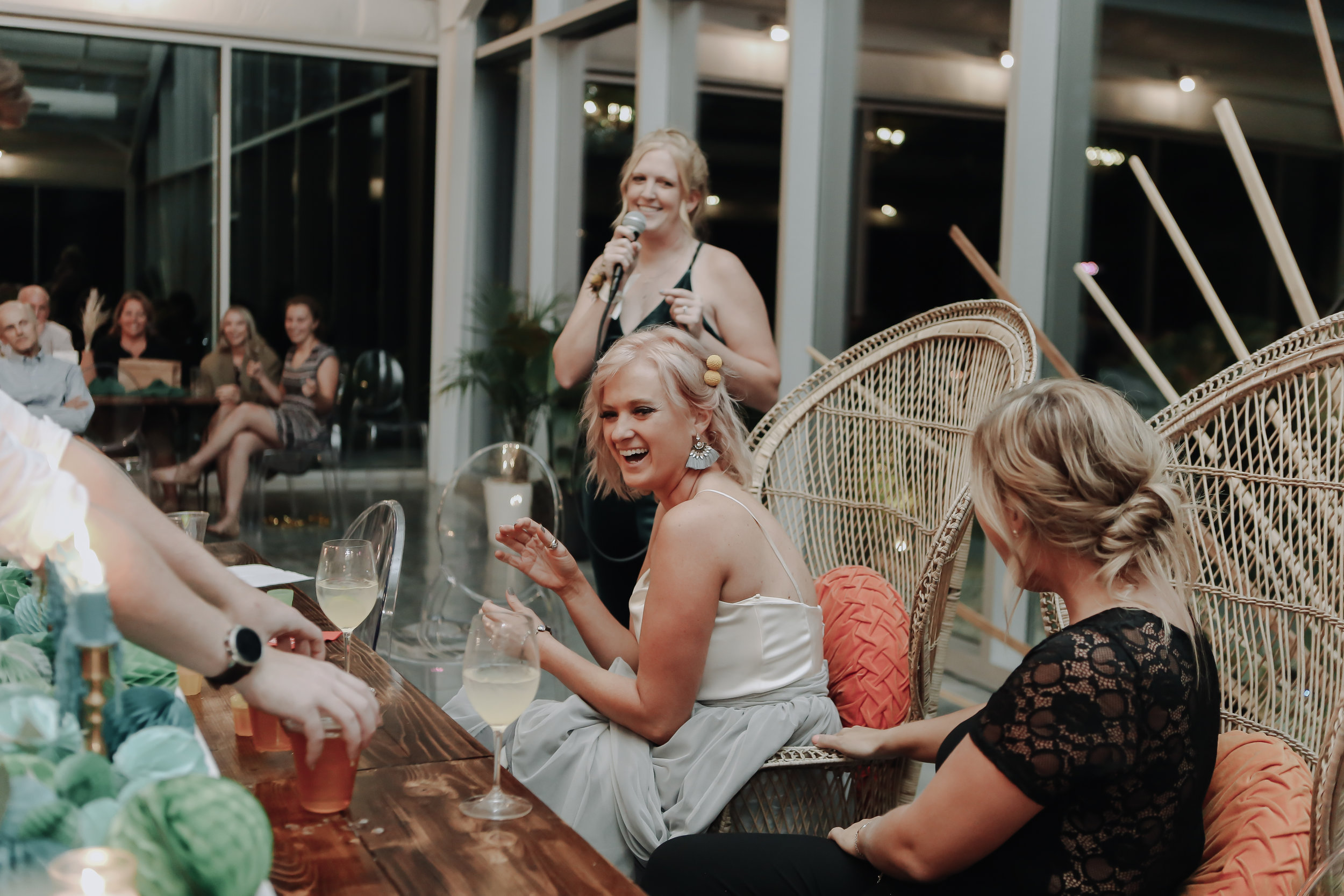 Maid of Honor Speech and Rap 1 at Greenhouse Two Rivers Wedding - Wedding Planning with Unions With Celia