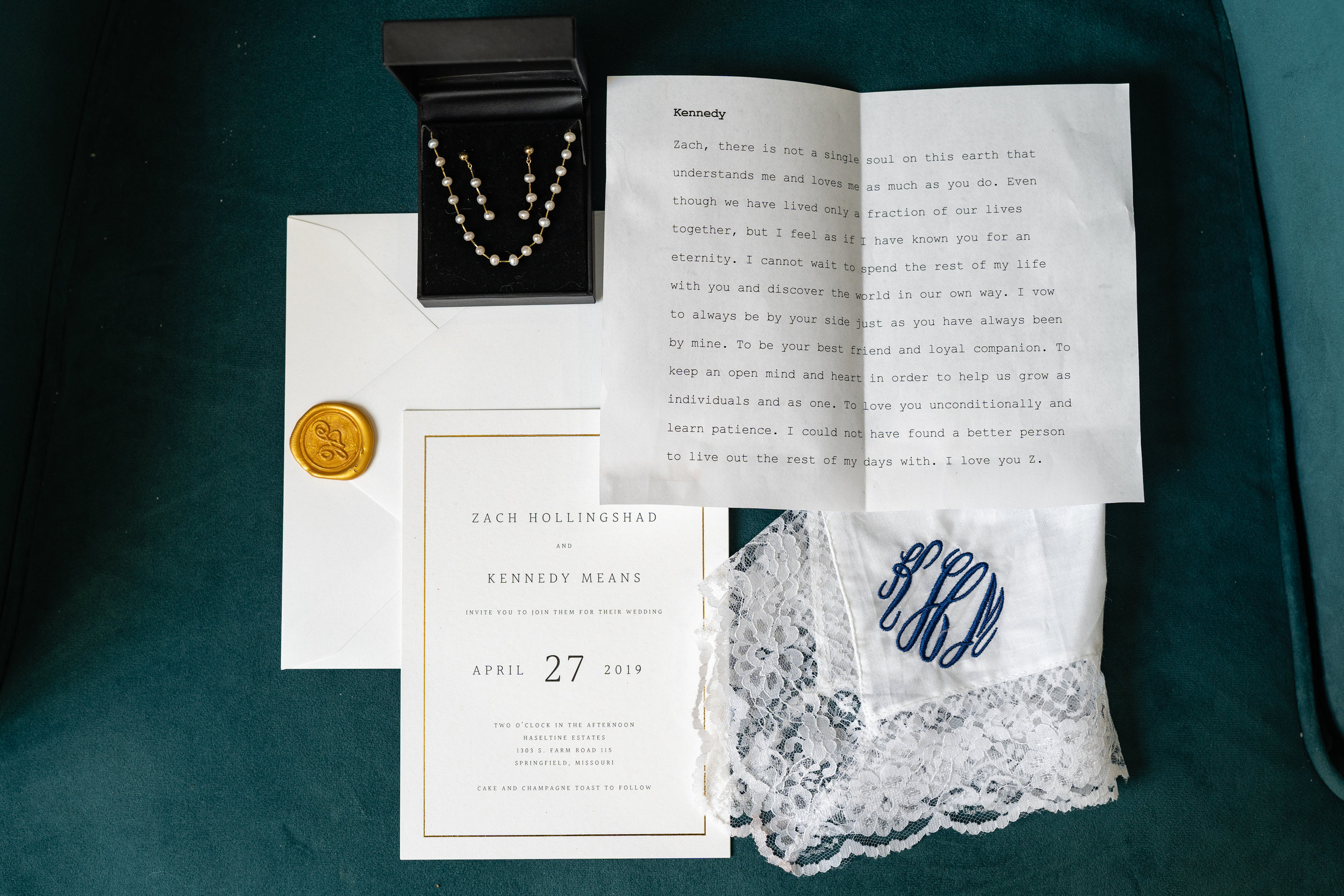 Intimate details for the vintage inspired couple on their wedding day are styled by their caring wedding planner, including the bride's vows printed on a typewriter. The intimate details matter on your wedding day.