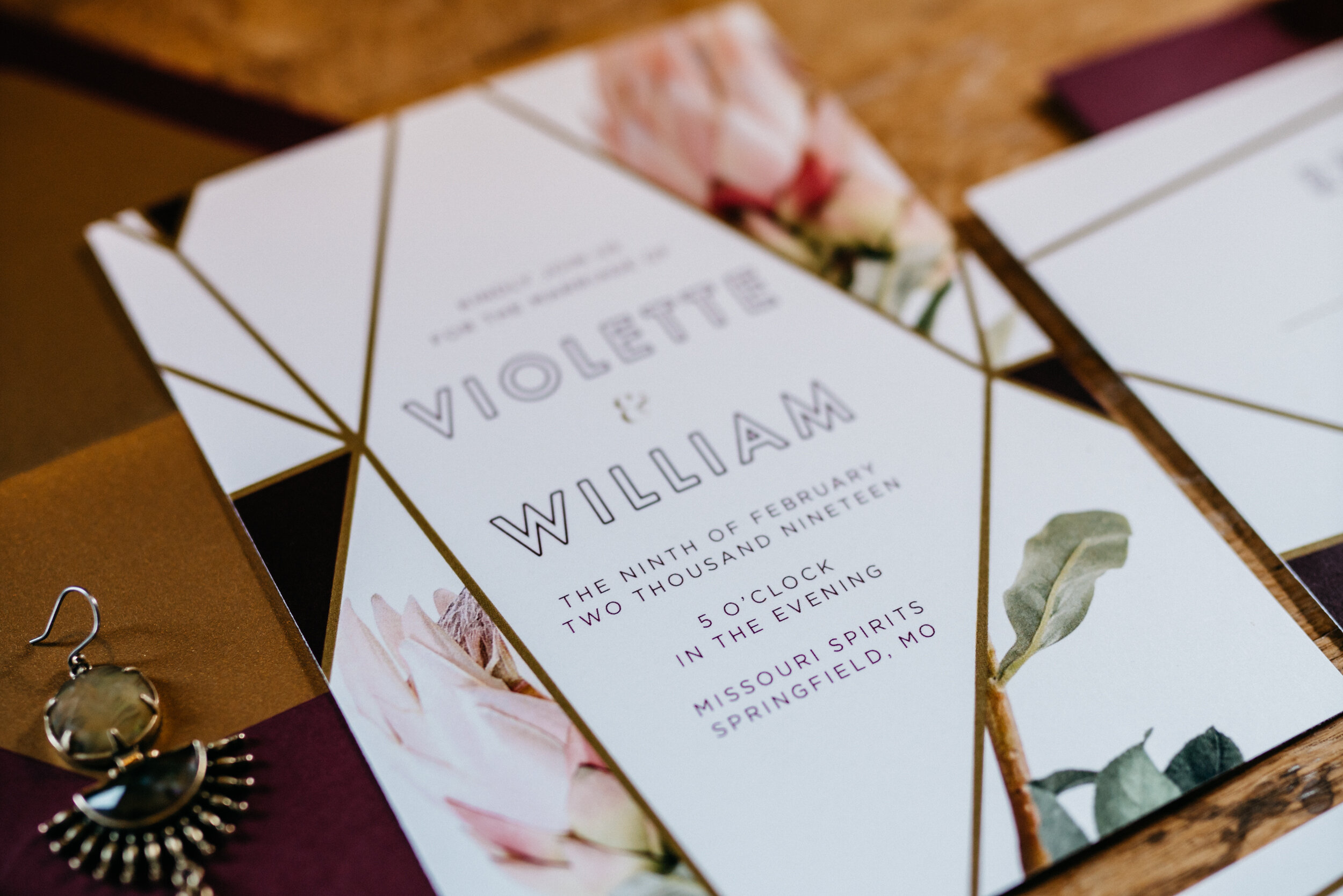 Invitation suite for spirited shoot at Missouri Spirits - Creative Wedding Planner Unions With Celia - 2