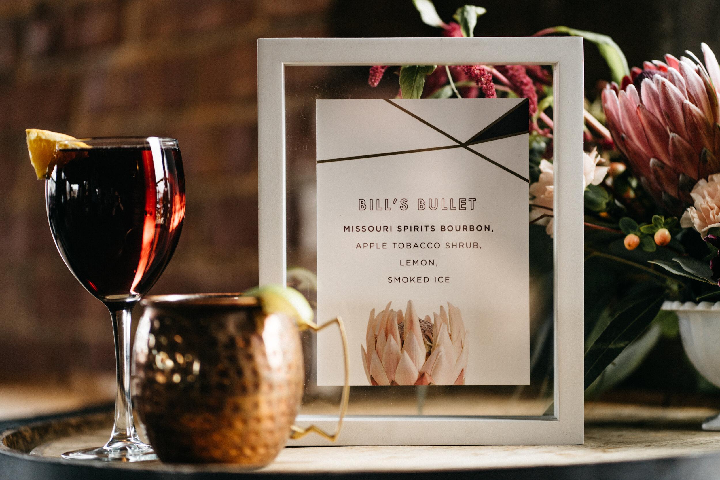 modern bar menu for spirited shoot at Missouri Spirits - Creative Wedding Planner Unions With Celia