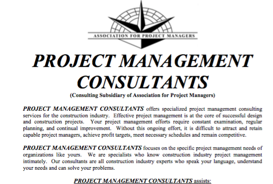 Consulting Overview (PDF)