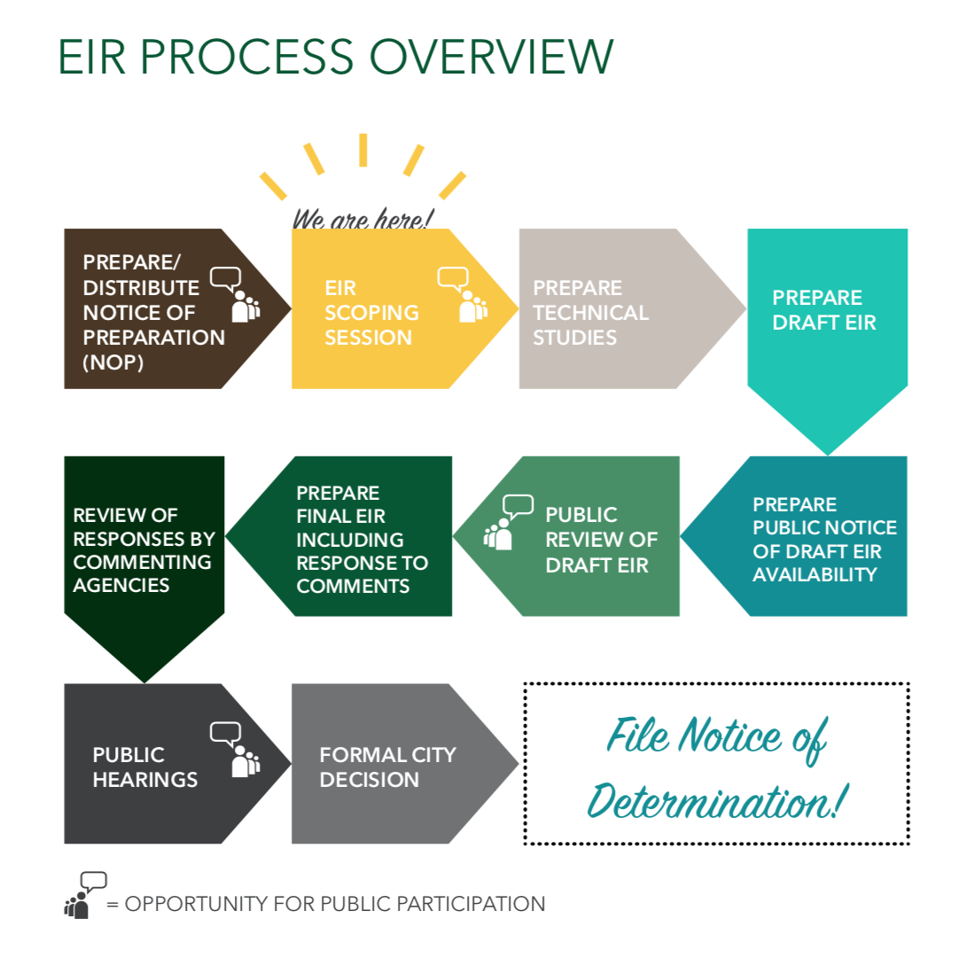 EIR Process Infographic  for three6ixty client EIR Scoping Session; InDesign.