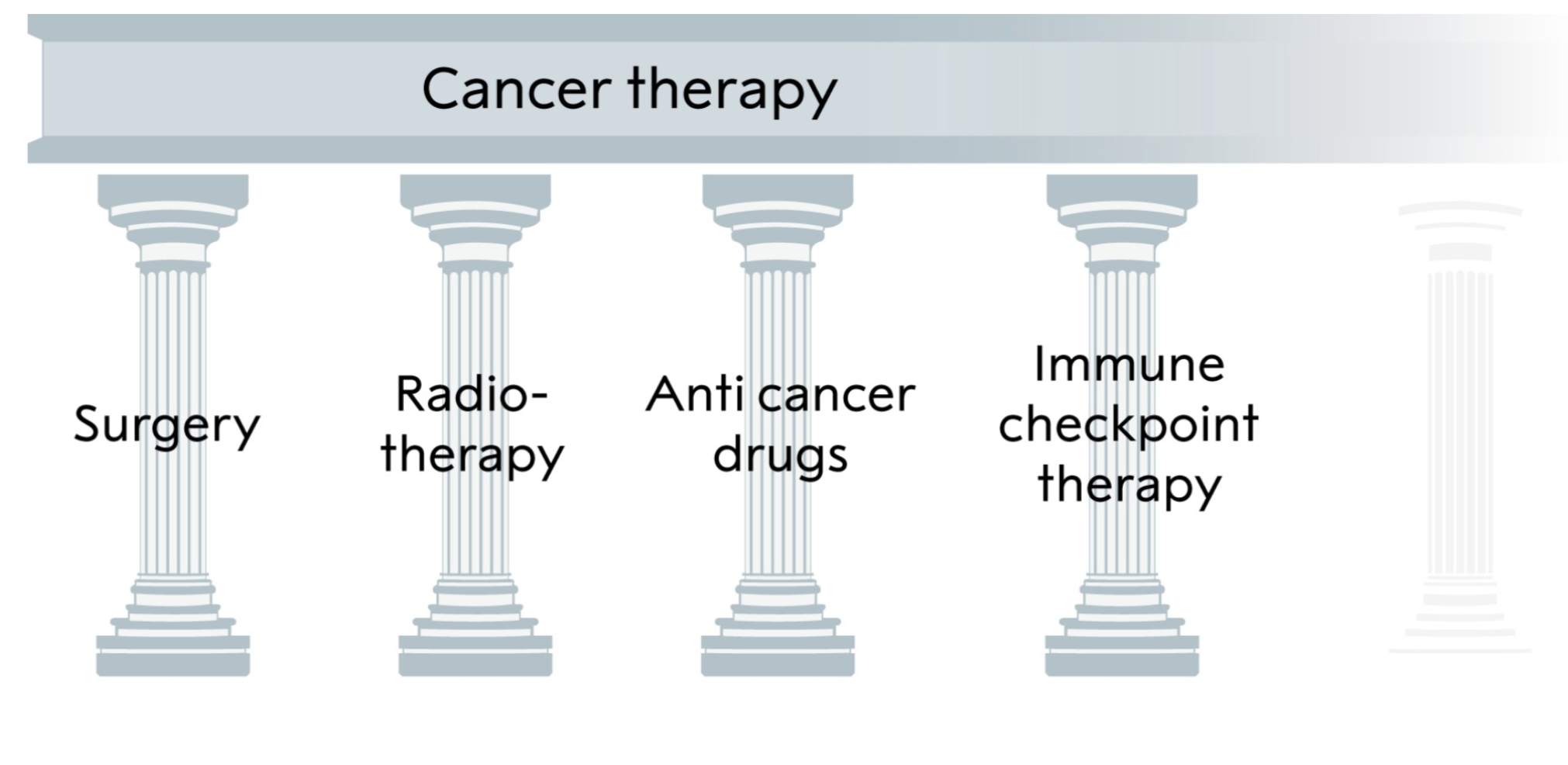 These are the pillars of cancer treatment. The latest one added by Allison and Honjo.