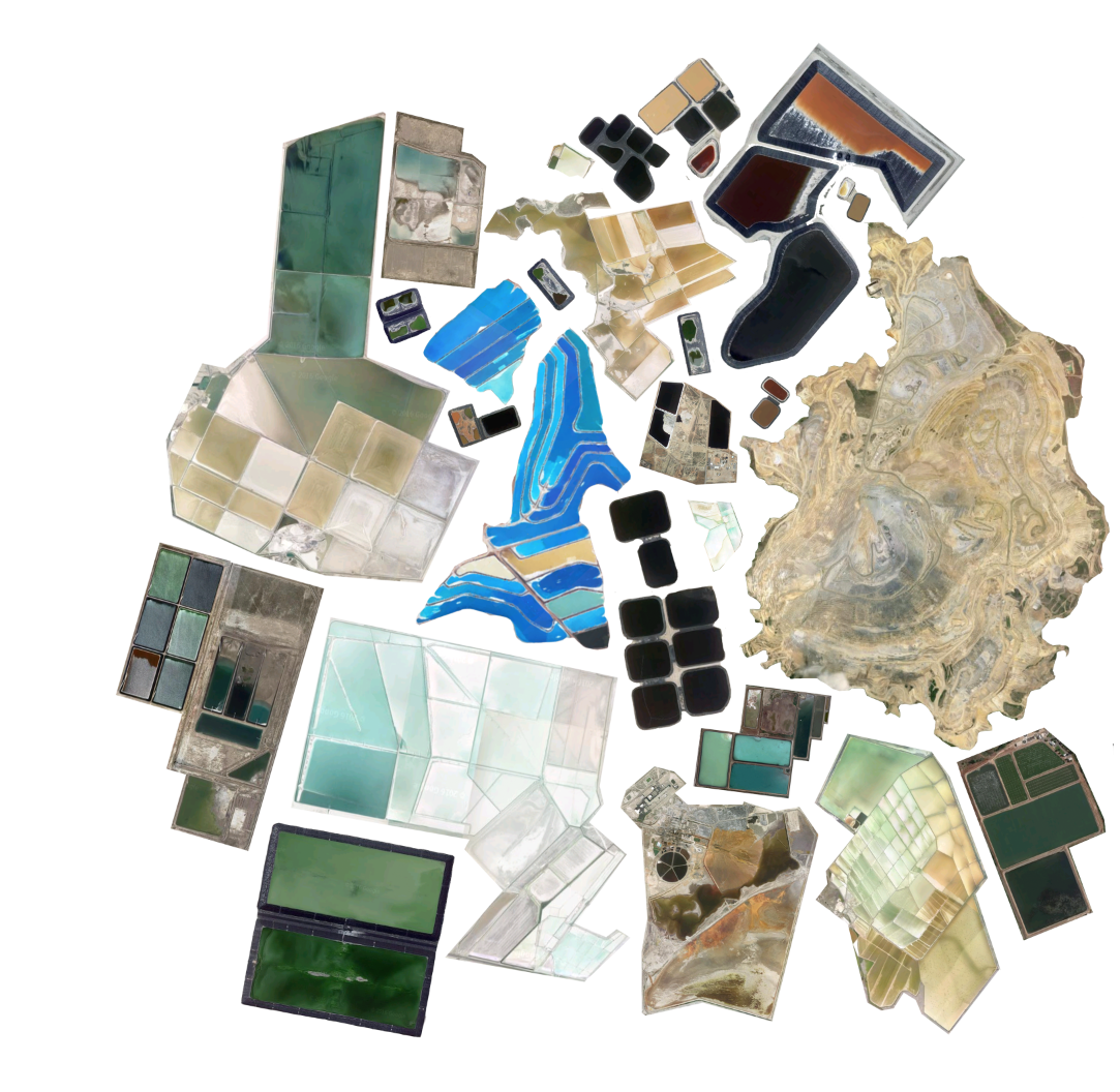 The Romance of Mining Collage  made from arial photographs of mines around Utah.