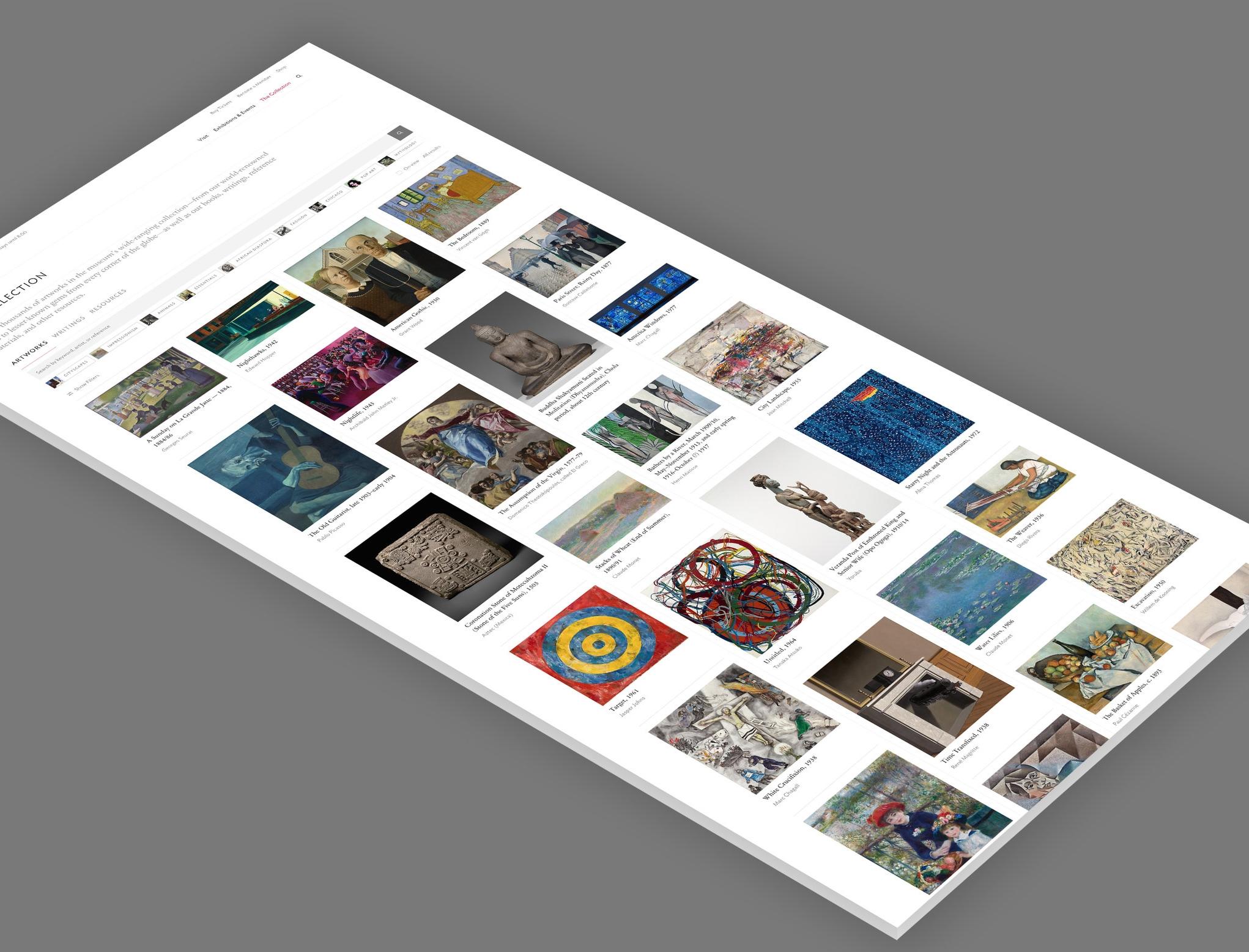 Art Institute of Chicago Website Redesign - The Art Institute of Chicago   2018