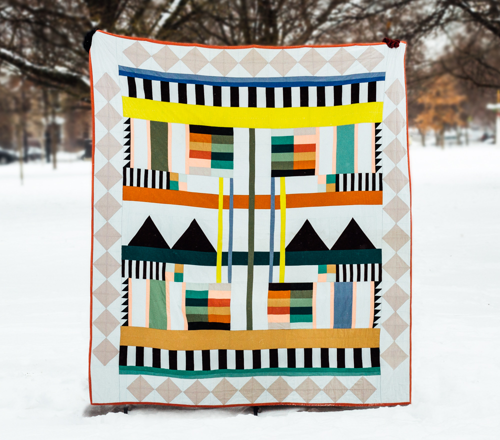 Idle Hands  is a quilt I designed to be time consuming so that I could use the process of making it to make some timely life decisions. It explores the idea of making as a form of devotional art.