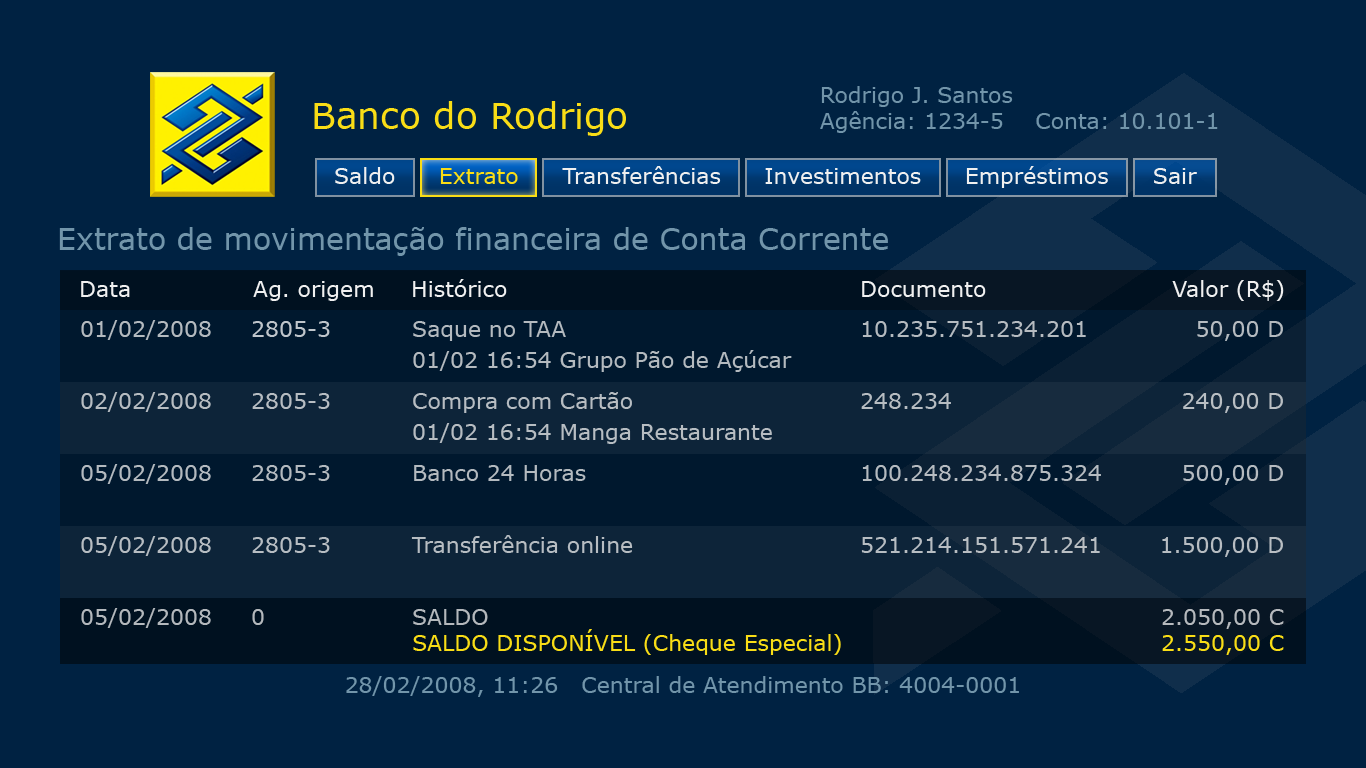 BB Media Center Banking balance