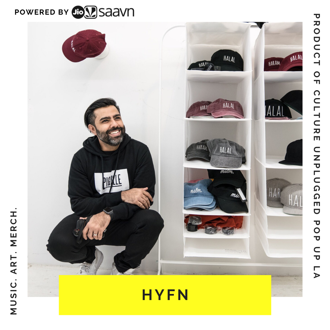 HYFN BY ATIF ATEEQ - Atif Ateeq is an artist and content creator from Brooklyn whose work aims to create impact and conversation within the brown and Muslim community. He passionately explores the duality within our identity and how that manifests in the form of new culture. His HALAL-HARAM hat project spread globally and explores the wide spectrum between HALAL and HARAM that we all live in. He is the cofounder of HYFN, a platform that documents the modern creative experience within the brown and Muslim community through visual storytelling. He hopes to spread pyaar and inspire all brown kids with big imaginations.