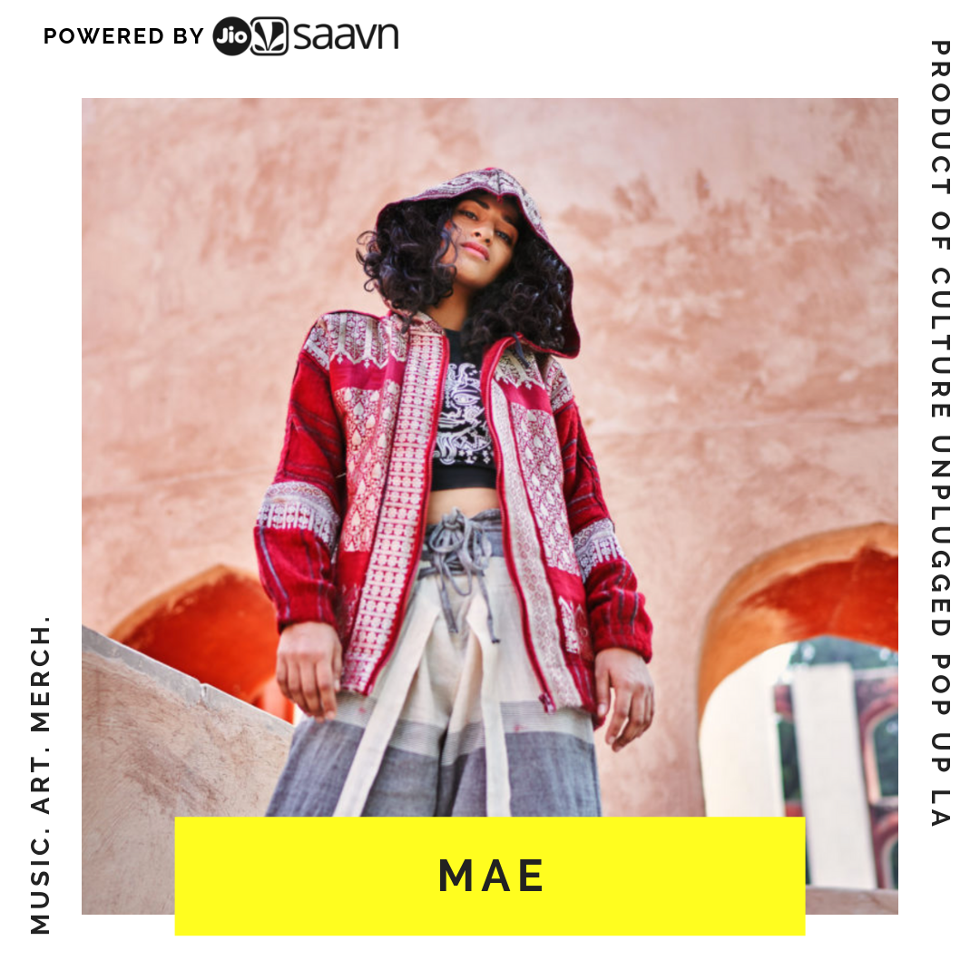 MAE - मैं is a blend of east and west. We are a group of girls hustling it out in New Delhi, creating garments we wish to see, where our culture and practicality of everyday life meet and embrace each other, designed by Jayeta Rohilla.