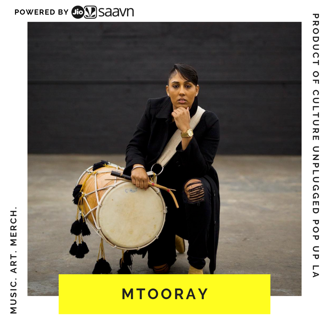 """MITOORAY - Malinder Tooray, also known as , is a unique entertainer, composer, recording artist and musician. MTooray, has been dominating the Indian drumming scene for the past 17 years. Born into a Sikh family, and a native of Los Angeles, her artistry was heavily influenced by her lively Indian culture. Known as the first female dhol player in North America, MTooray, is a trailblazer in the music industry.Malinder's career began at the age of 16 with the first brother and sister group of dhol players called, Dholnation. Self taught percussionist, MTooray, has traveled around the US performing with a many artists. Such as A.R. Rahman, Sukbhir, Mickey Singh, Jaz Dham.i DJs - DJ Rekha (Basement Bhangra), Jay Dhabi, Jasmine Solano, experienced choreographers like Kumari Suraj, BFUNK & Karmagraphy. High profile events: like World of Dance, LA Fashion Week, LA Indian Film Festival, Vancouver International Bhangra Celebration (VIBC), Michael Costello 's Runway(Designer) US OPENING PRE PARTY event by CitiBank. MTooray, recently caught the attention of Walt Disney. She was brought in to Capitol Records to record her dhol beats for the broadway rendition of The Jungle Book (2016).Over the years, MTooray, has developed a greater understanding of various genres of music including World Music, EDM, Dancehall, Latin and Hip Hop. Most recently, MTooray, has been performing with Afro R&B Soul band, The.Wav. Her performances with The.Wav expanded her influence as an Indian drummer by allowing the incorporation of Indian beats to Afro Beat, Afro Trap, Afro Pop music. As a multi-talented artist, MTooray, is famous for fusing universal tribal beats to many genres of music building bridges that bring cultures together.MTooray has been featured in Mickey Singh's new music video I am Urban Desi """"The Musical"""". This was the first music video that opens doors to the South Asian LGTBQ community. Creating a platform for women empowerment. Her most recent recording was to DJ Snake's """"Magenta"""