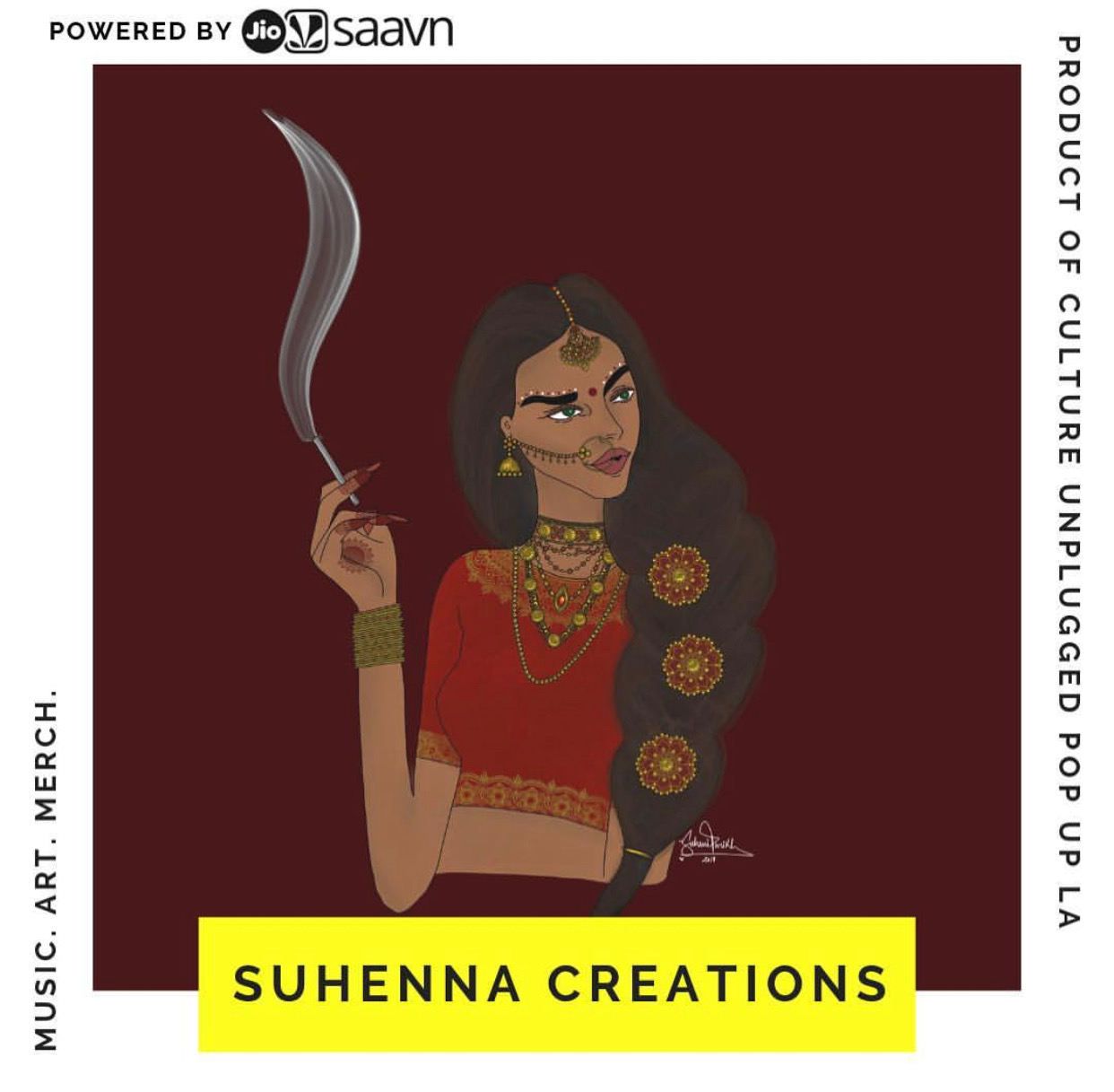 SUHENNA CREATIONS - Suhenna brings a modern twist to traditional South Asian Art in every way we can. From our mendhi inspired art pieces to our pop art style drawings, Suhenna is always inspired and influenced by the culture.