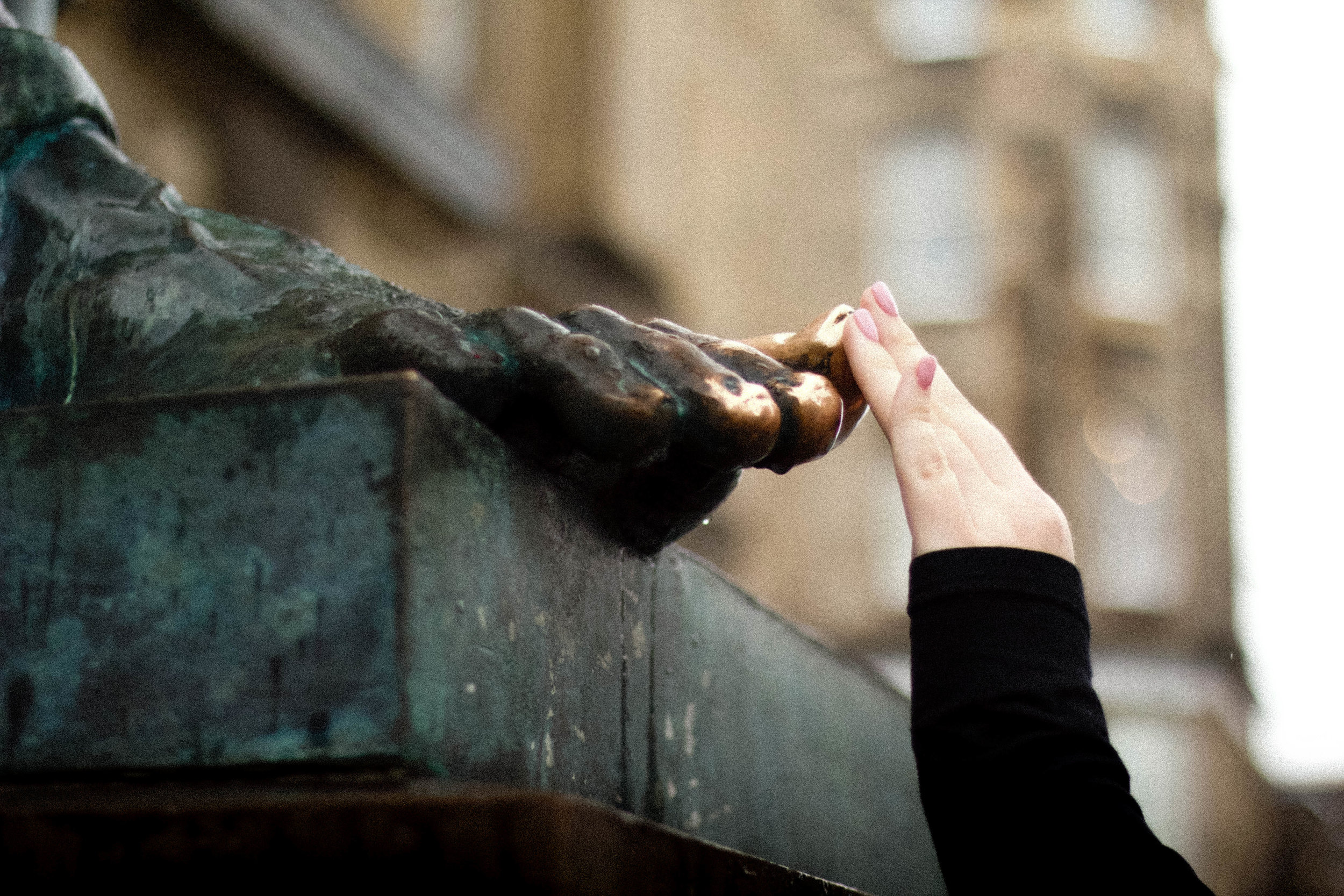 Rumor has it that it's good luck for students to rub the toe of the statue of David Hume on The Royal Mile. (Katie)