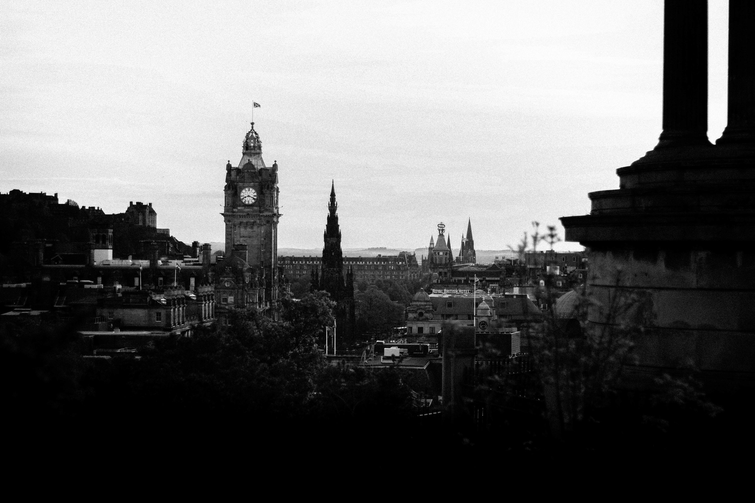 Part of the view from Calton Hill.