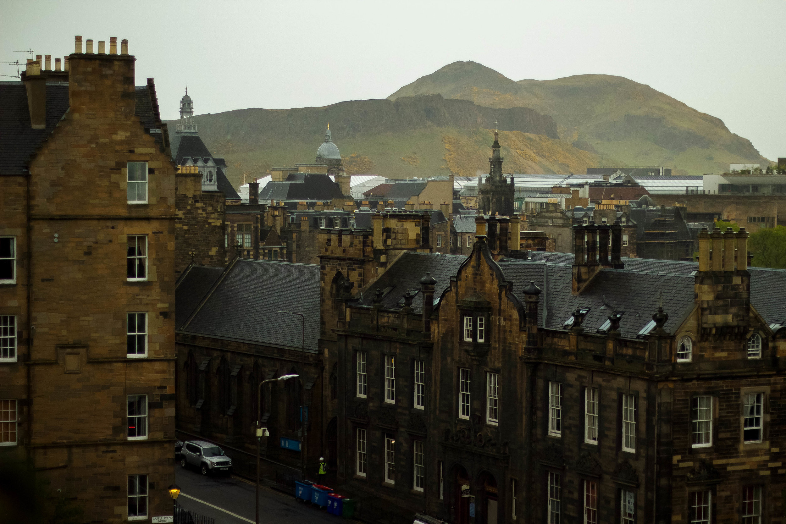 Part of the view from Edinburgh Castle