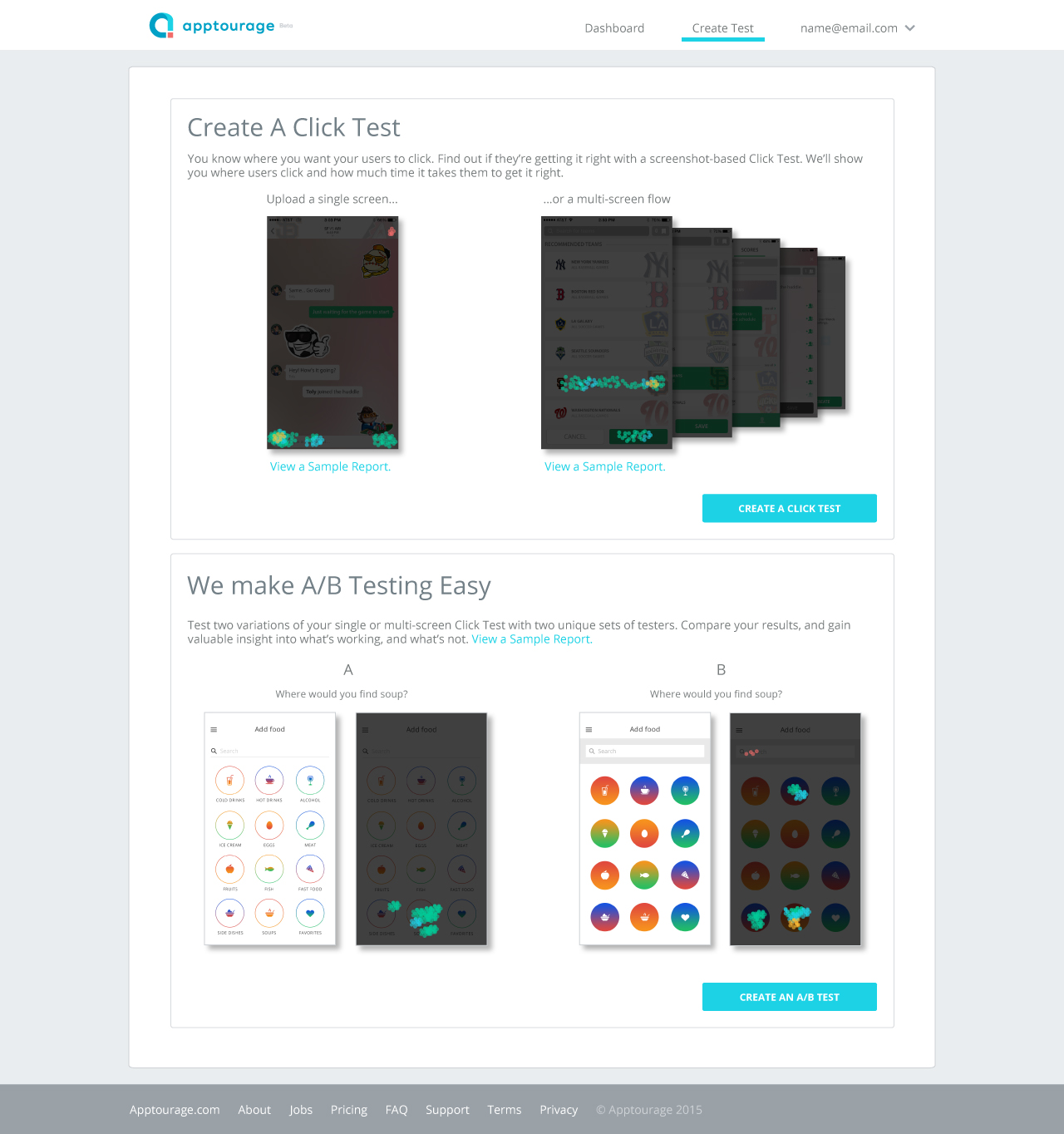Test creation tutorial