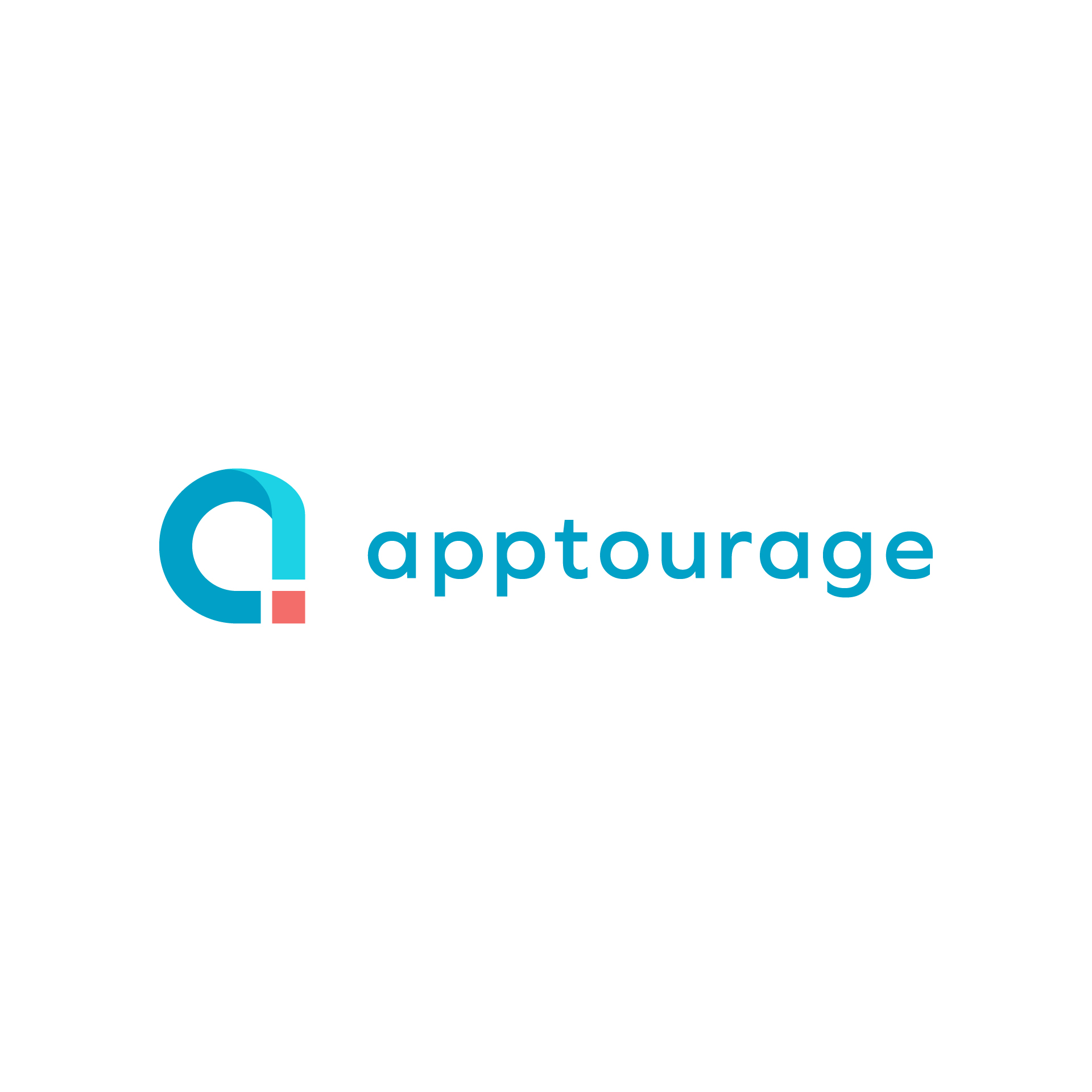Final horizontal lockup for the Apptourage Logo