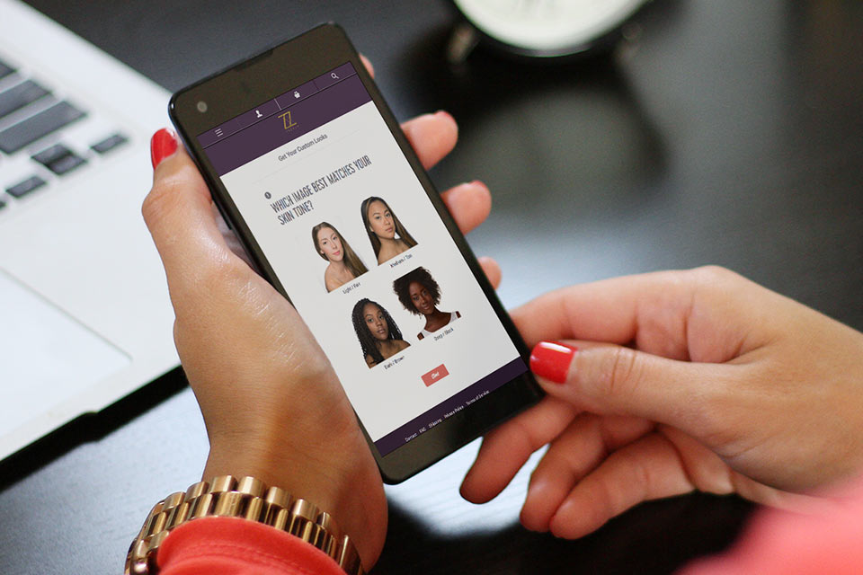 Custom makeup form on mobile