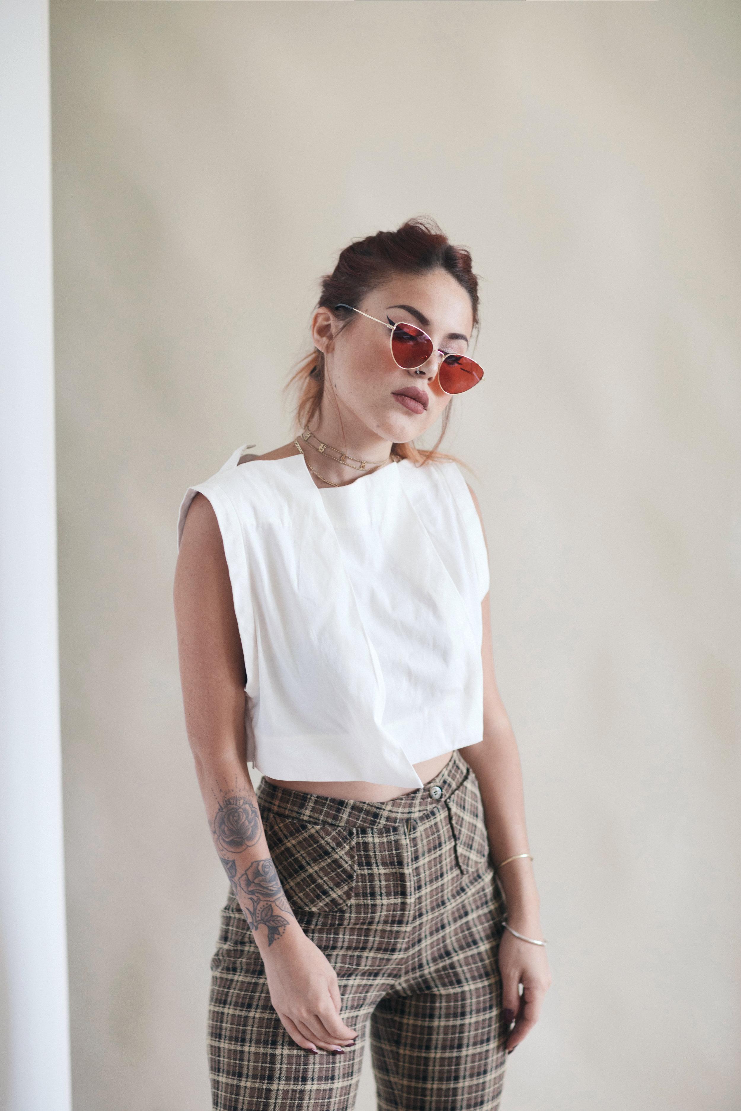 Luana wearing Gemma Top