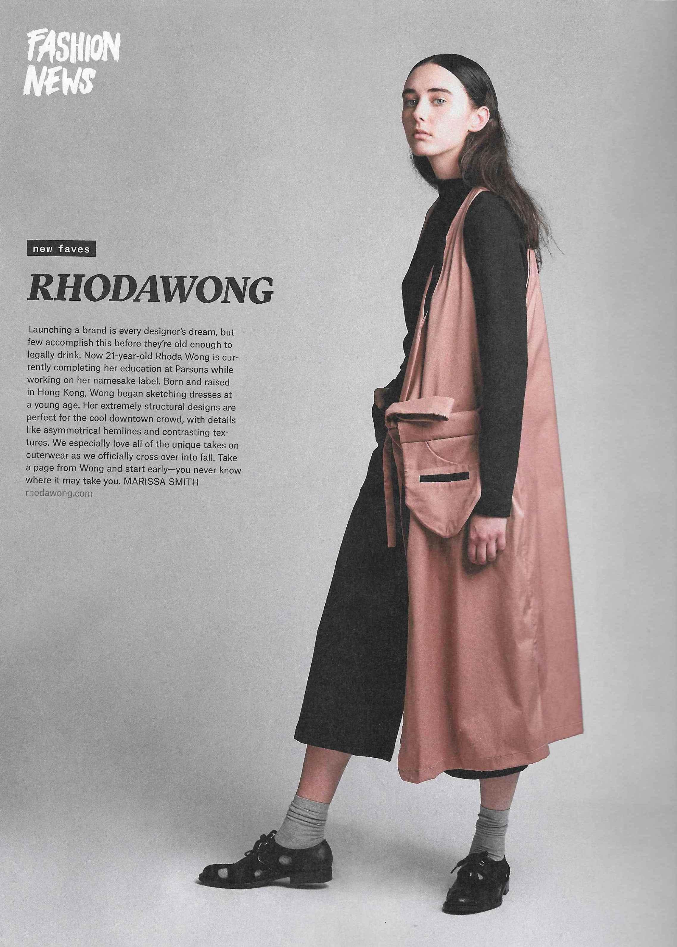 Nylon Magazine September Issue 2017 / New Designer Feature