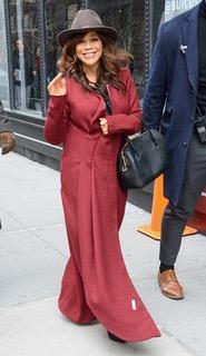 Rosie Perez, Actress / Wearing FW18 Ruby Coat